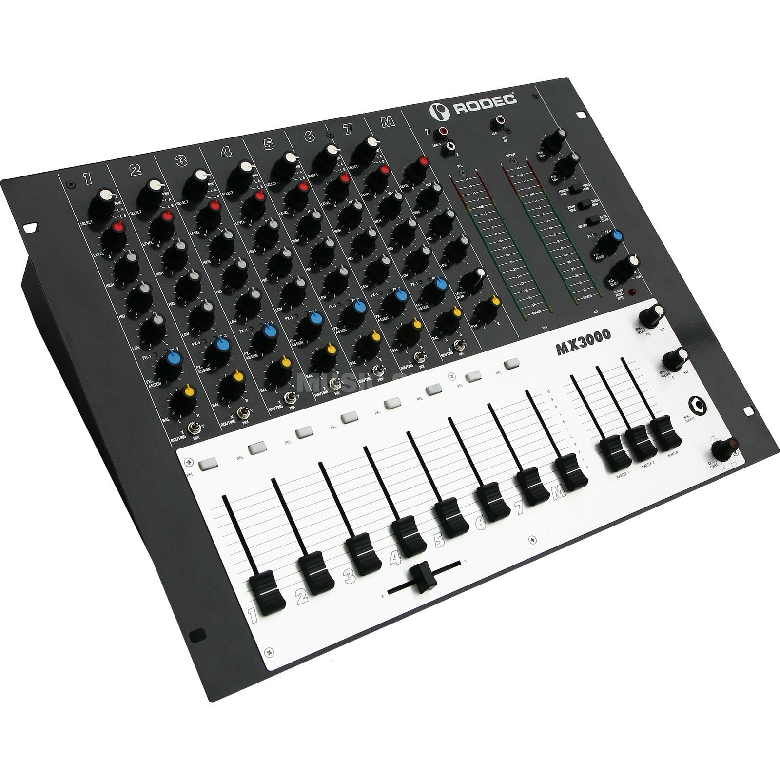 "Rodec MX3000 8-Channel Audio Mixer, 19"" Product Image"