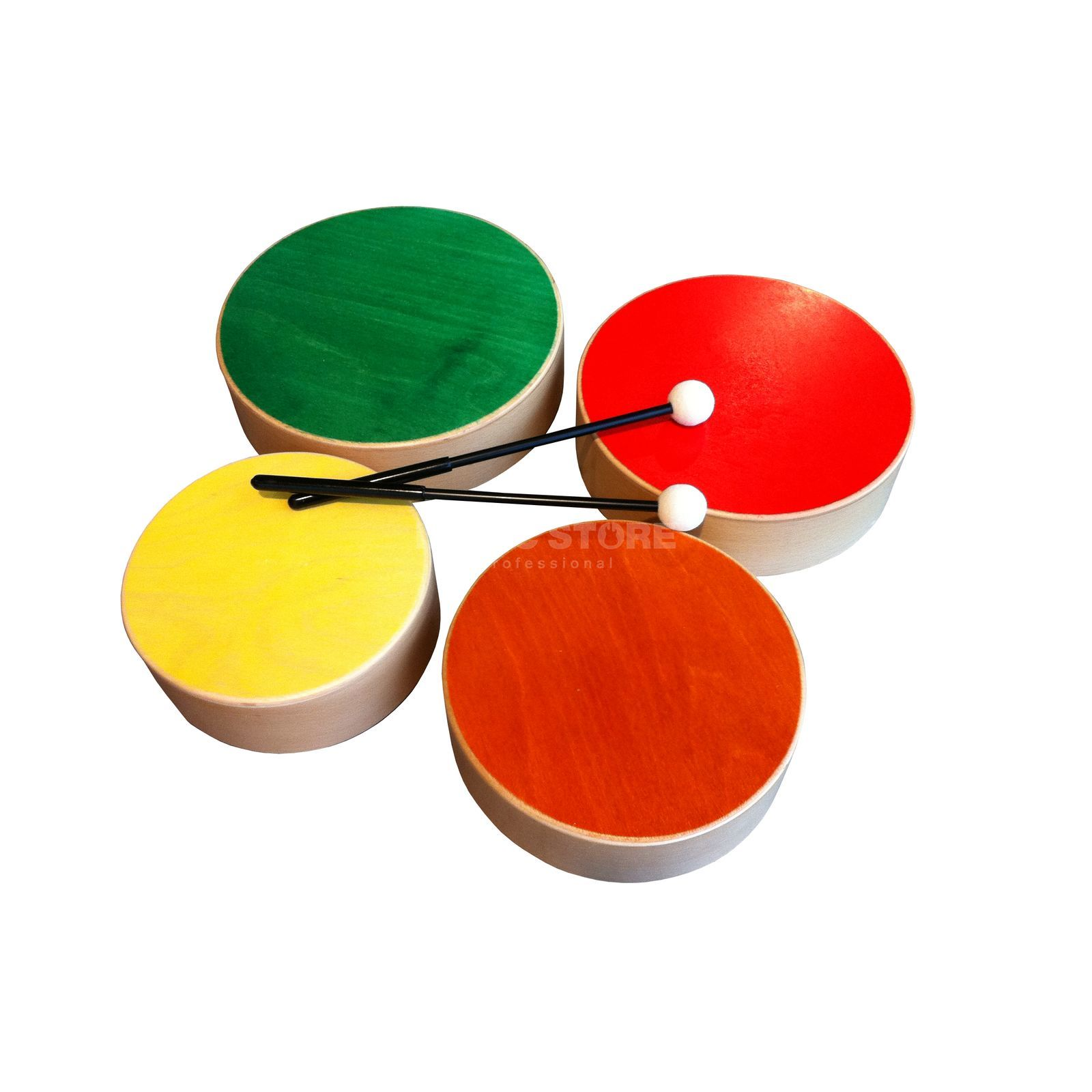 Rohema Wood Drum 61698 Set of 4 - Multicolor Produktbillede