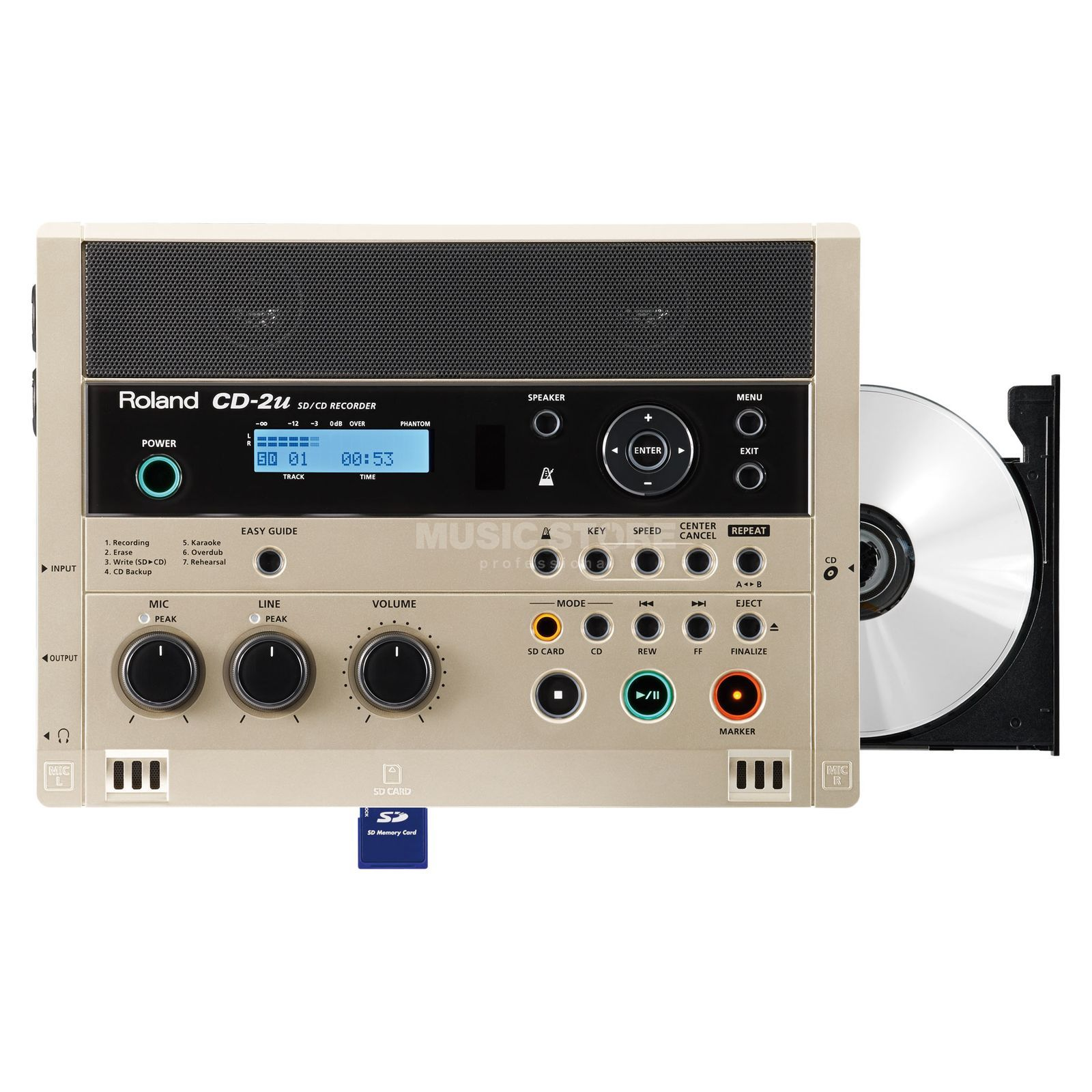 Roland CD-2U SD & CD Audio Recorder    Produktbillede