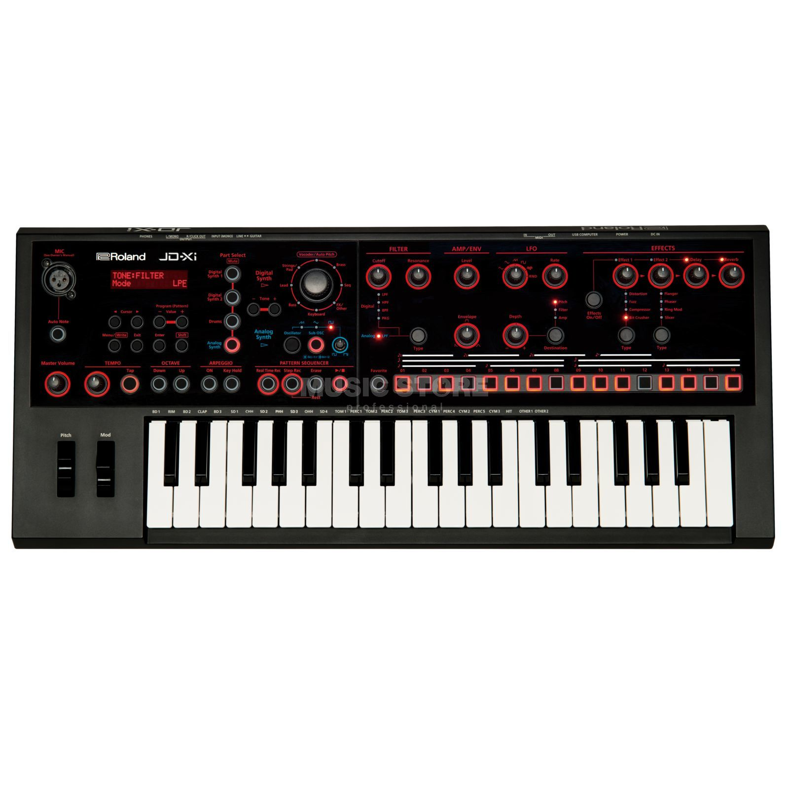 Roland JD-Xi Analog/Digital Crossover Synthesizer Produktbillede