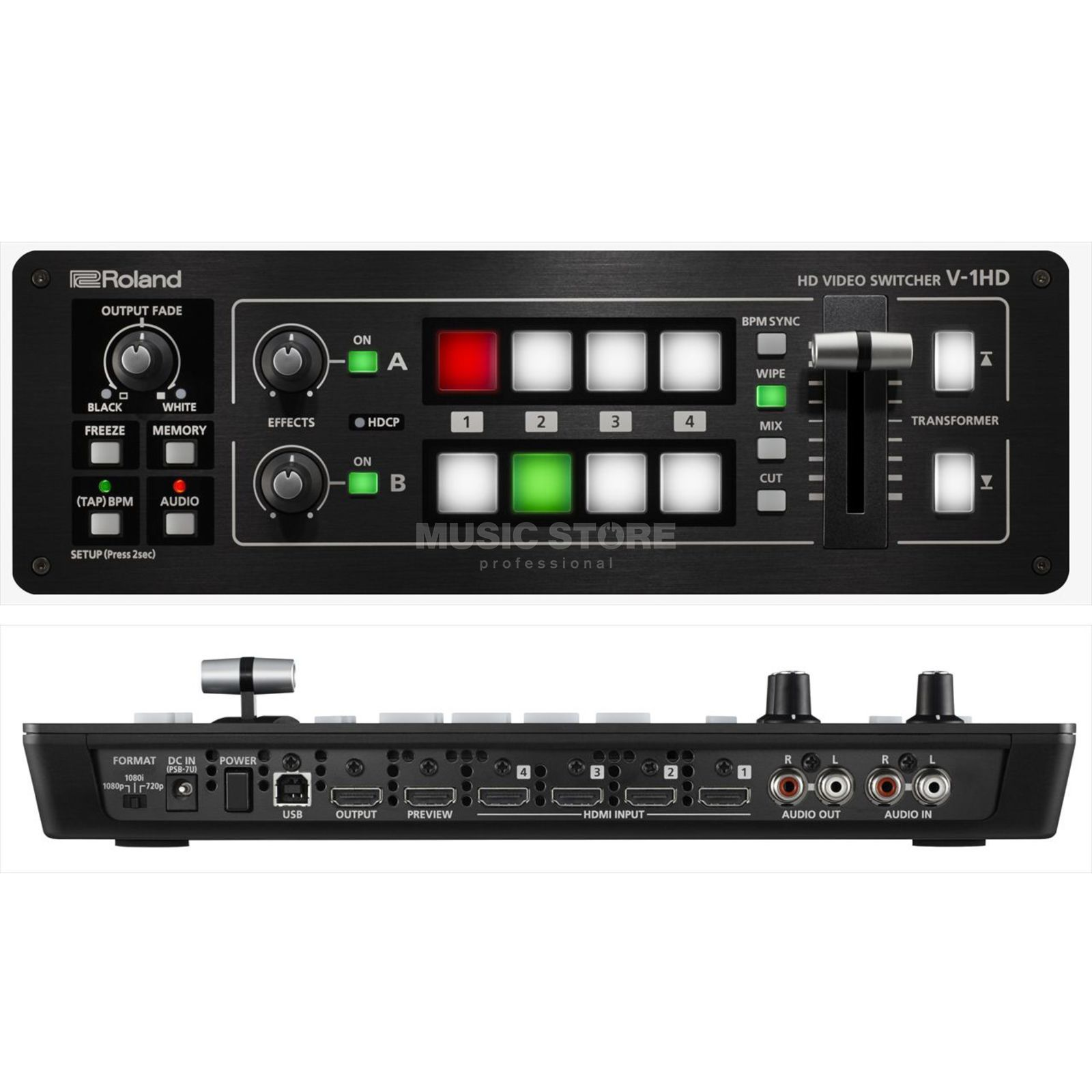 Roland V-1HD 4-Kanal Full HD Switcher Produktbild
