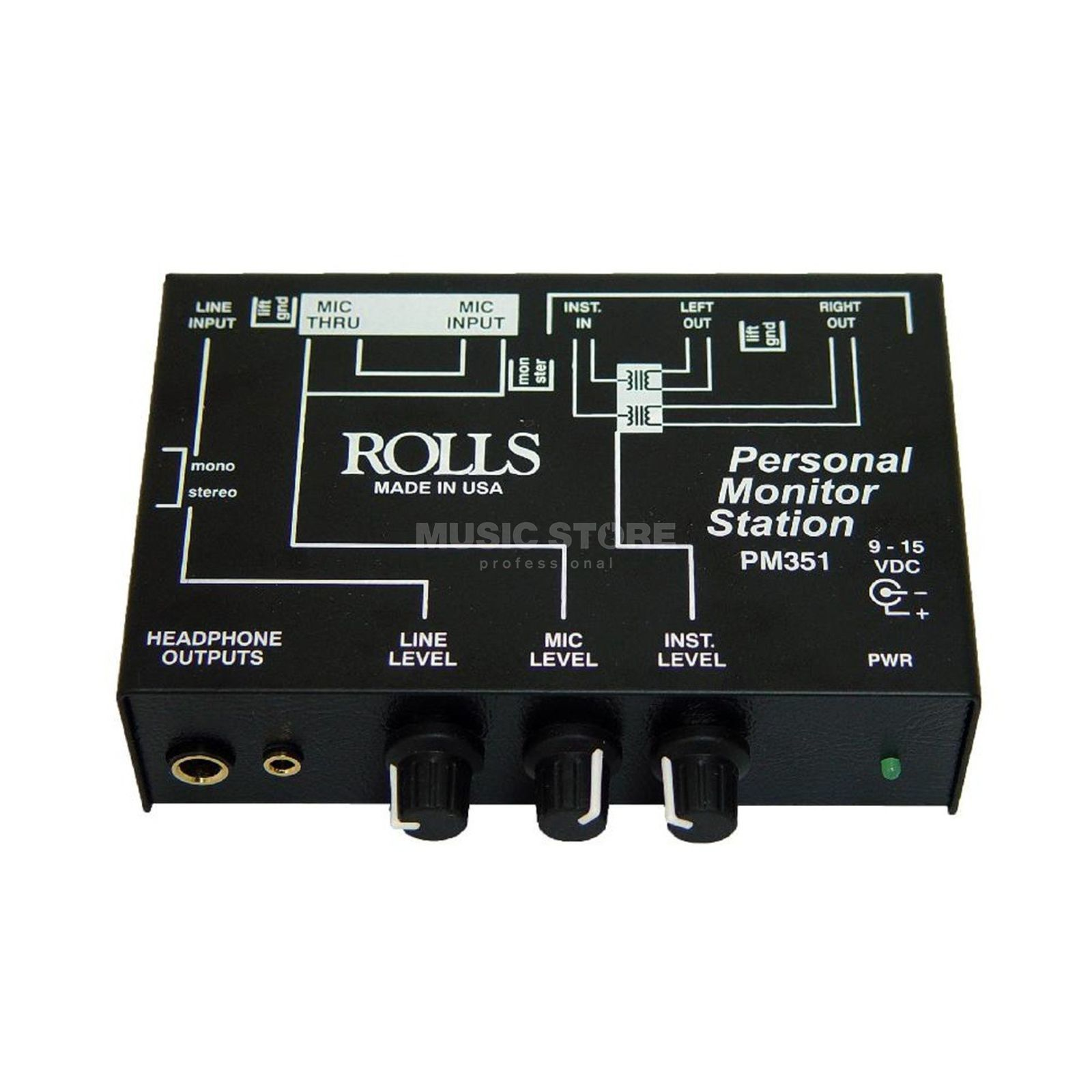 Rolls PM 351 Personal Monitor Station Produktbild