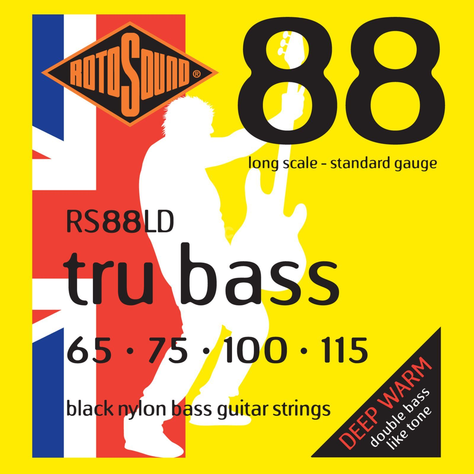 Rotosound Bass String Black Nylon 65-115 Flat Wound Изображение товара