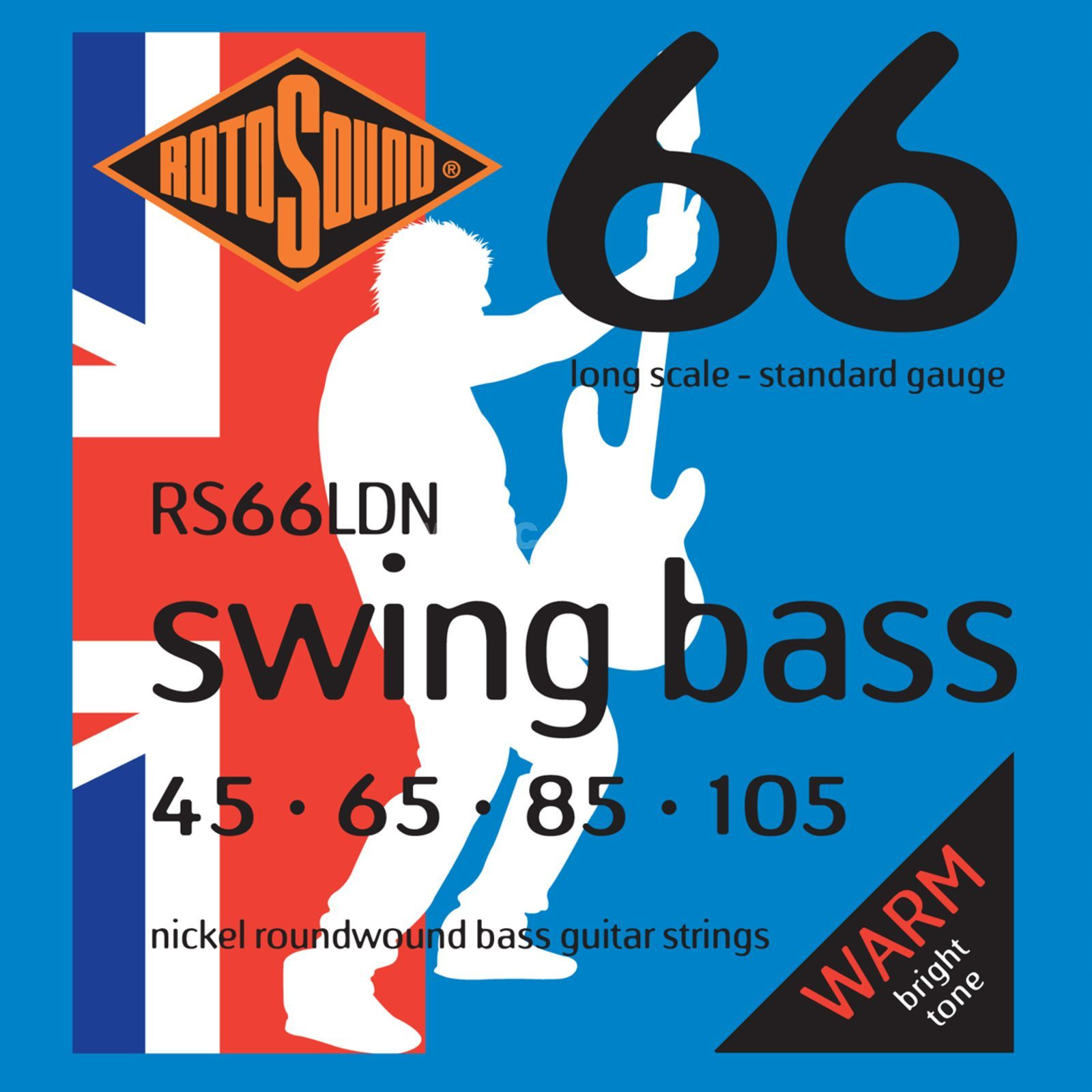 Rotosound Bass Strings RS66LDN 45-105 Swing Bass 66, Nickel Immagine prodotto