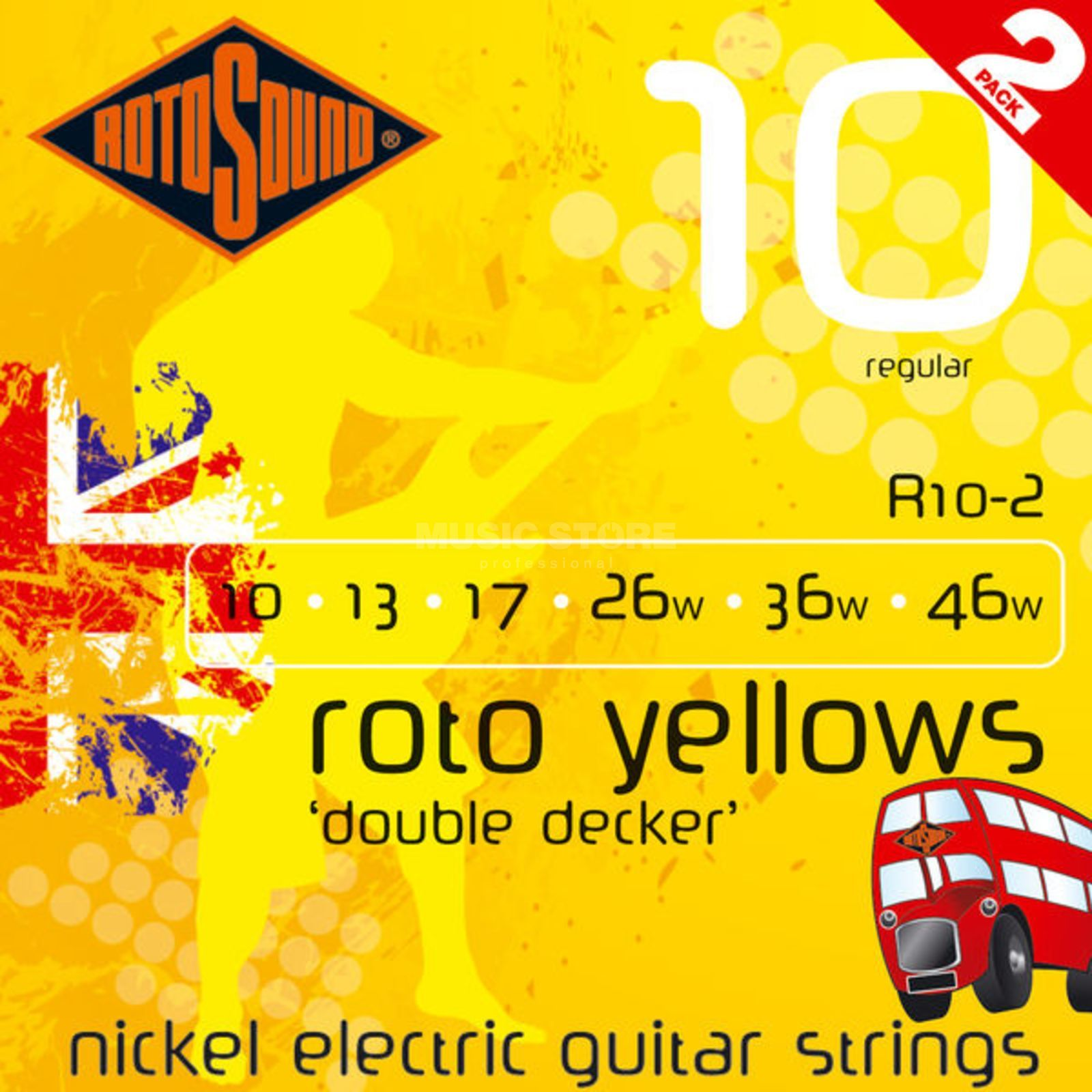 Rotosound redo Yellows R10DD 10-46 Doubledecker  2er Set Produktbillede