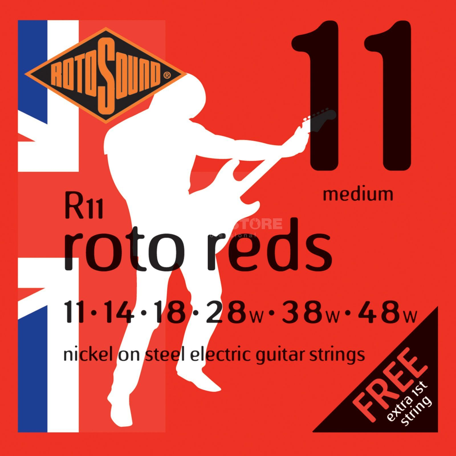 Rotosound Roto Reds R11 11-48 Nickel, Medium, Double e1 Produktbillede