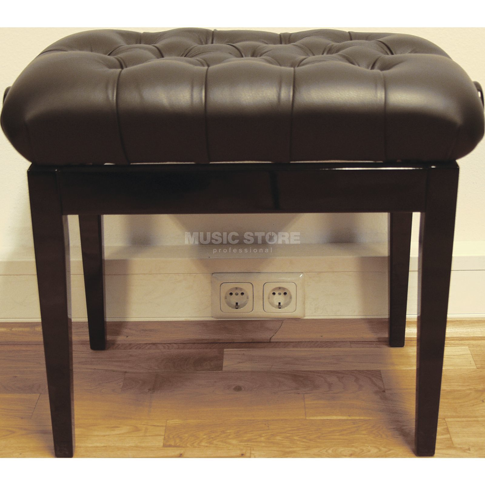 RTK Golf 053R Piano Bench Leather, Rhomb Paded Produktbillede