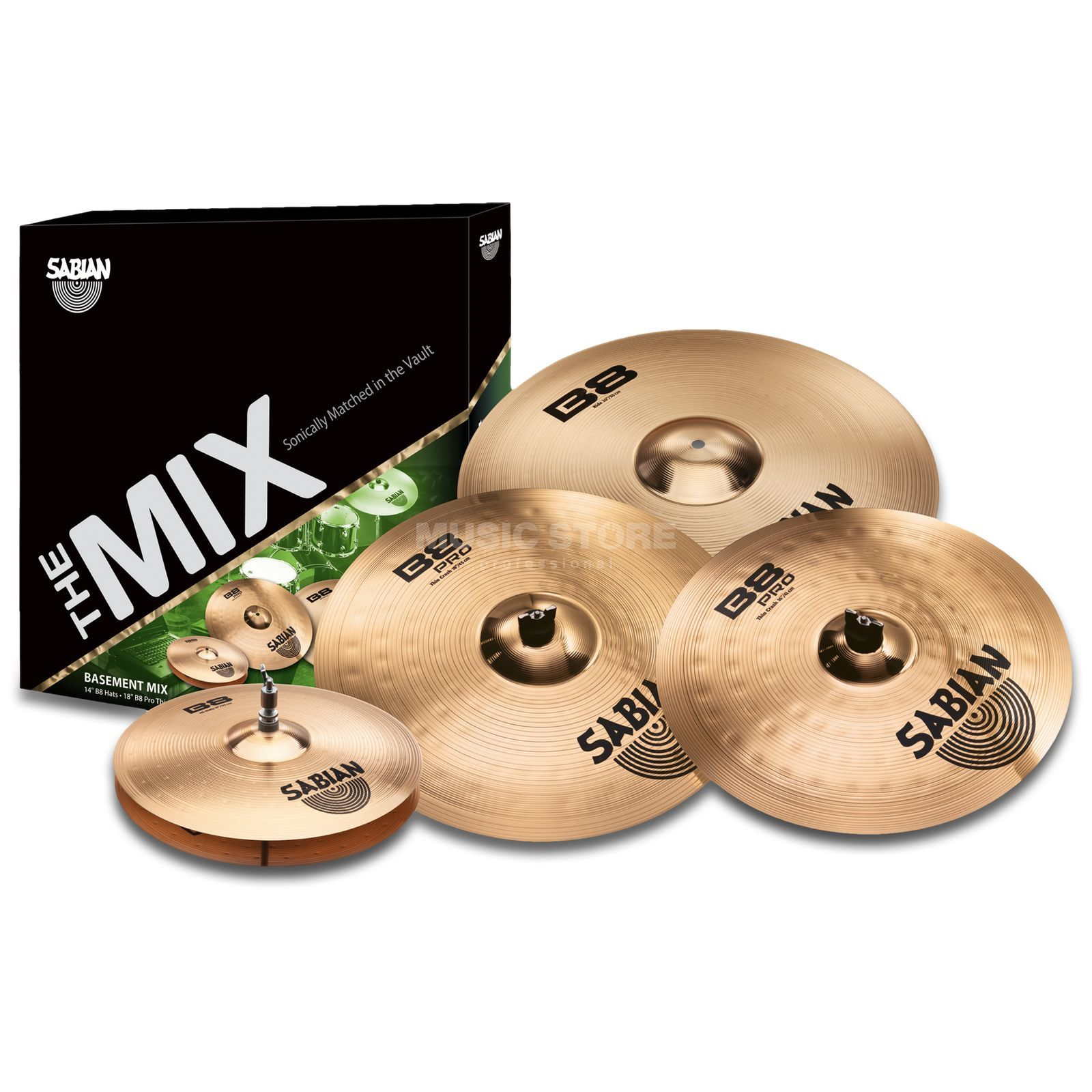 "Sabian B8/B8PRO Cymbal Set ""Basement"" Brilliant Finish Produktbild"