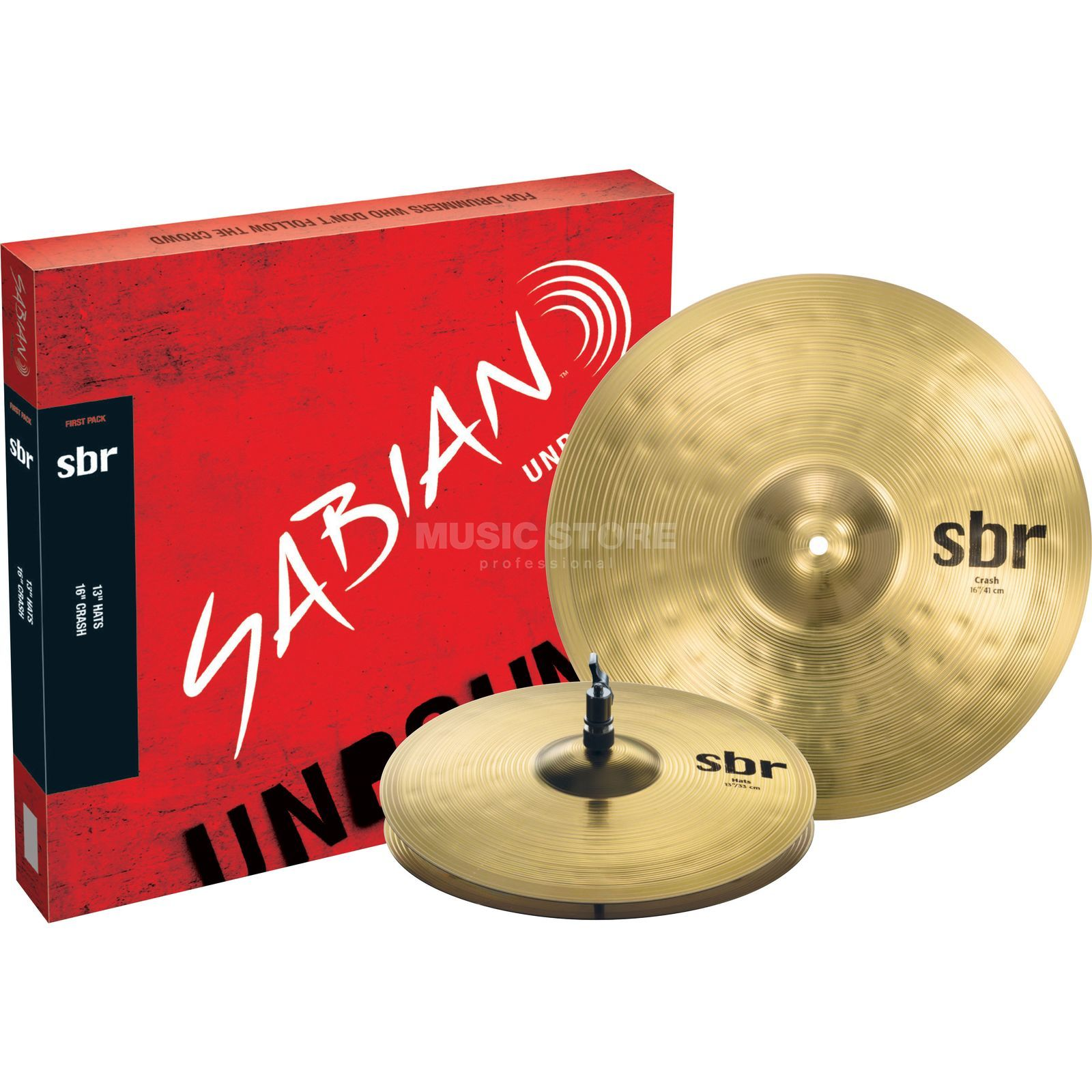 "Sabian sbr First Pack, 13"" HiHat, 16"" Crash Produktbillede"