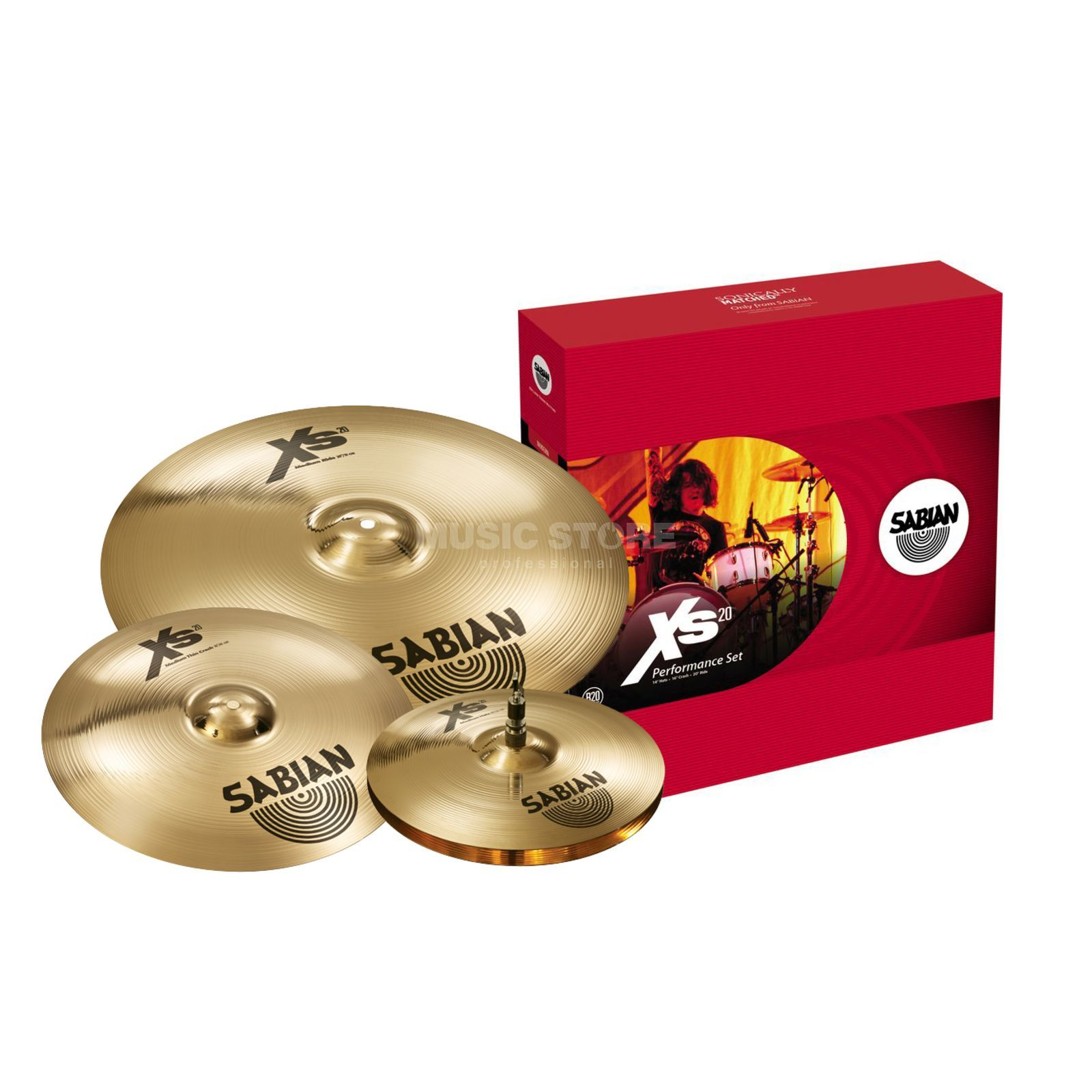 Sabian XS20 Cymbal Set performance, Brilliant Finish Productafbeelding