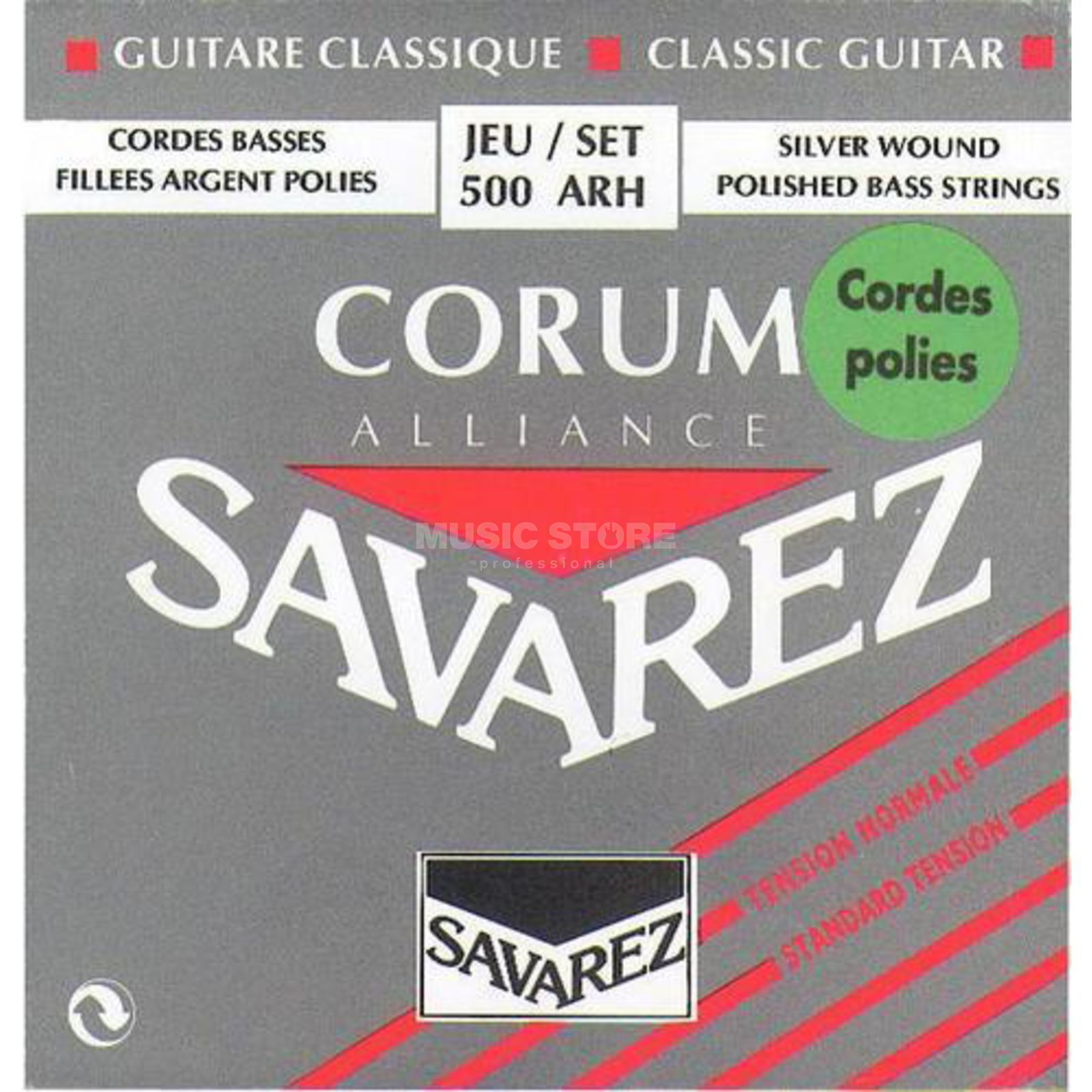 Savarez K-Git. Saiten 500ARH Corum Carbon, Polished Bass Strings Produktbild
