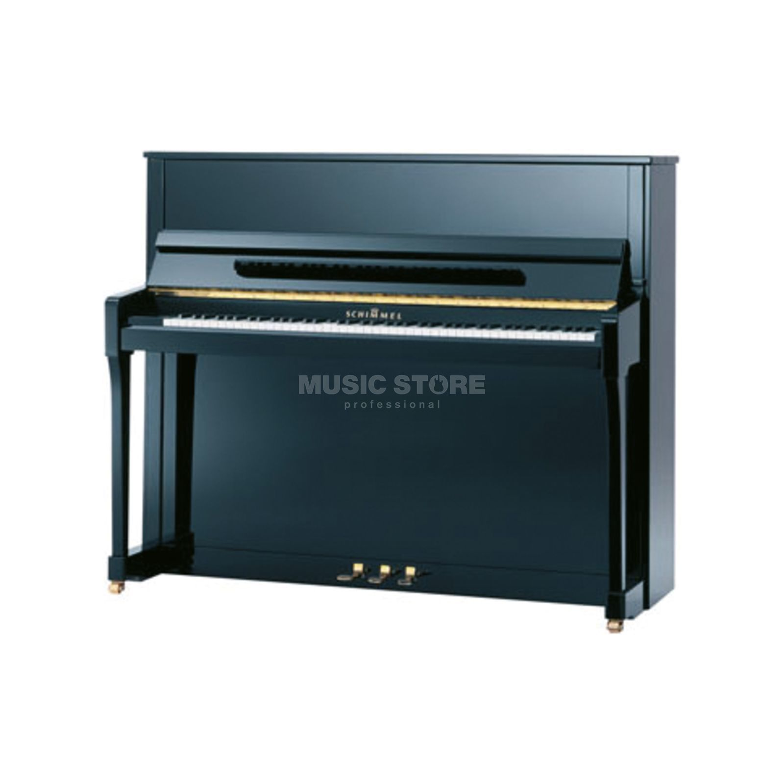 Schimmel 122 SE Piano Salon Exquisit Sc Black Polished Produktbillede