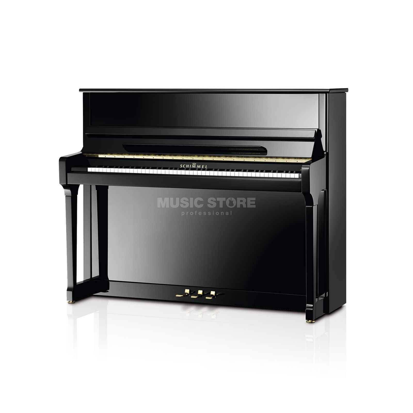 Schimmel C 120 Tradition Twin Tone Black polished, 120cm Produktbillede