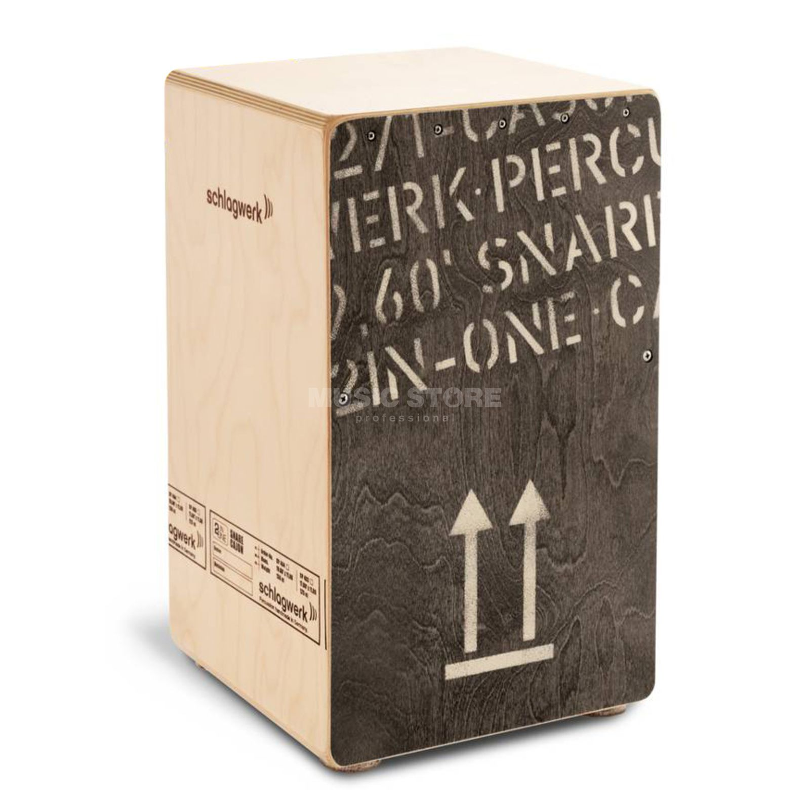 "Schlagwerk ""2InOne"" Cajon CP404BLK, Black Edition Product Image"
