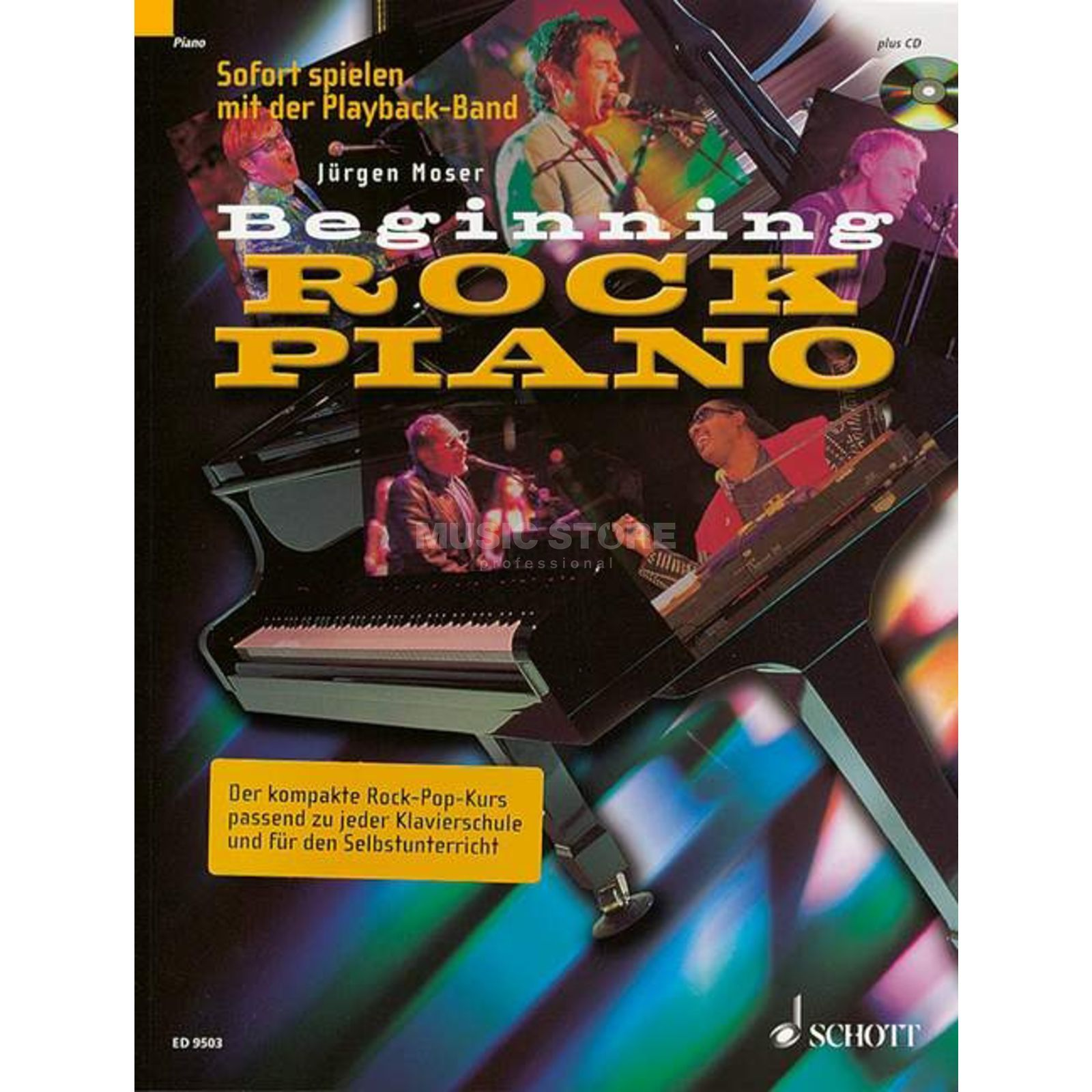 Schott Music Beginning Rock Piano Jürgen Moser,inkl. CD Produktbild