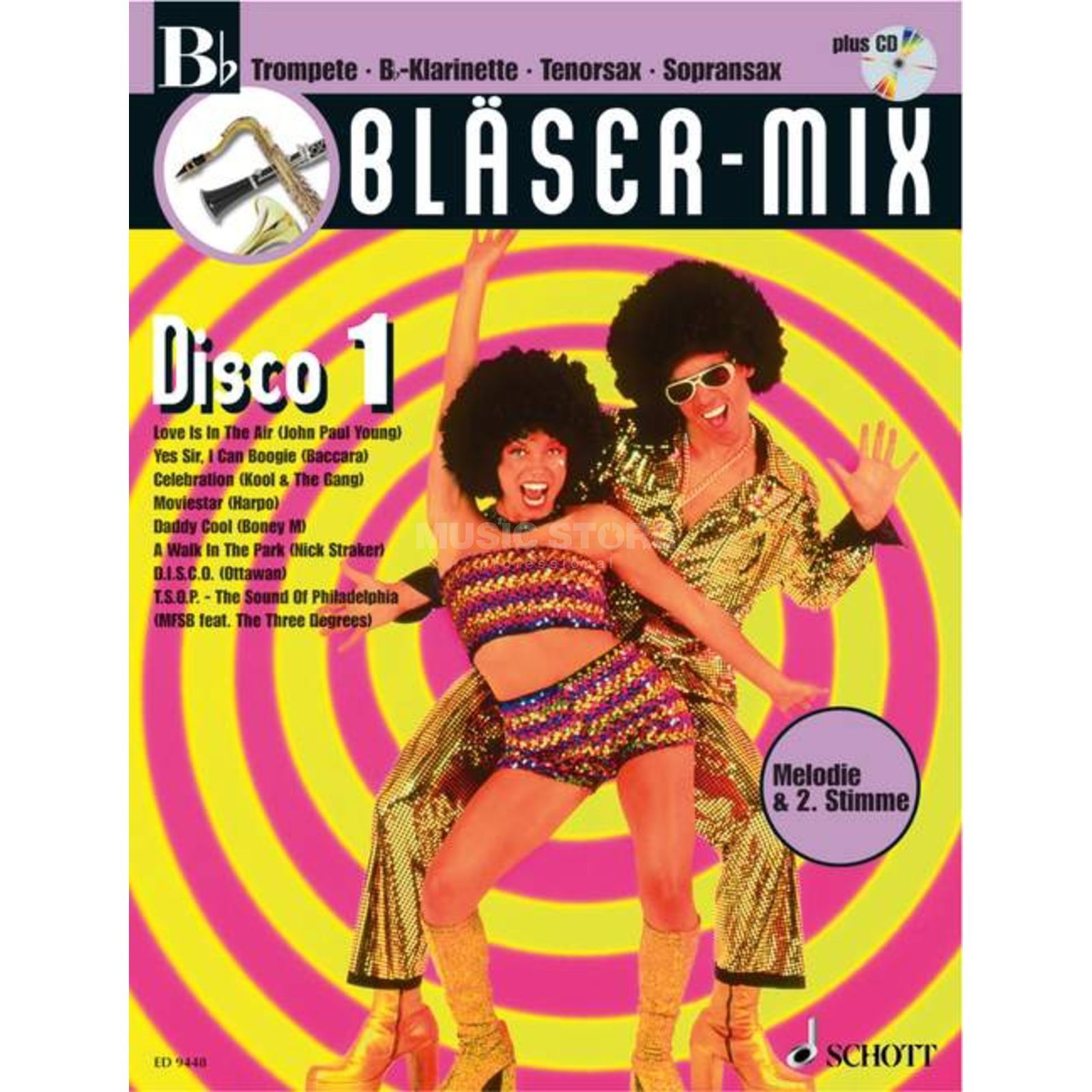 Schott Music Disco, Bläser-Mix Play-along Bb-Instrumente Produktbillede