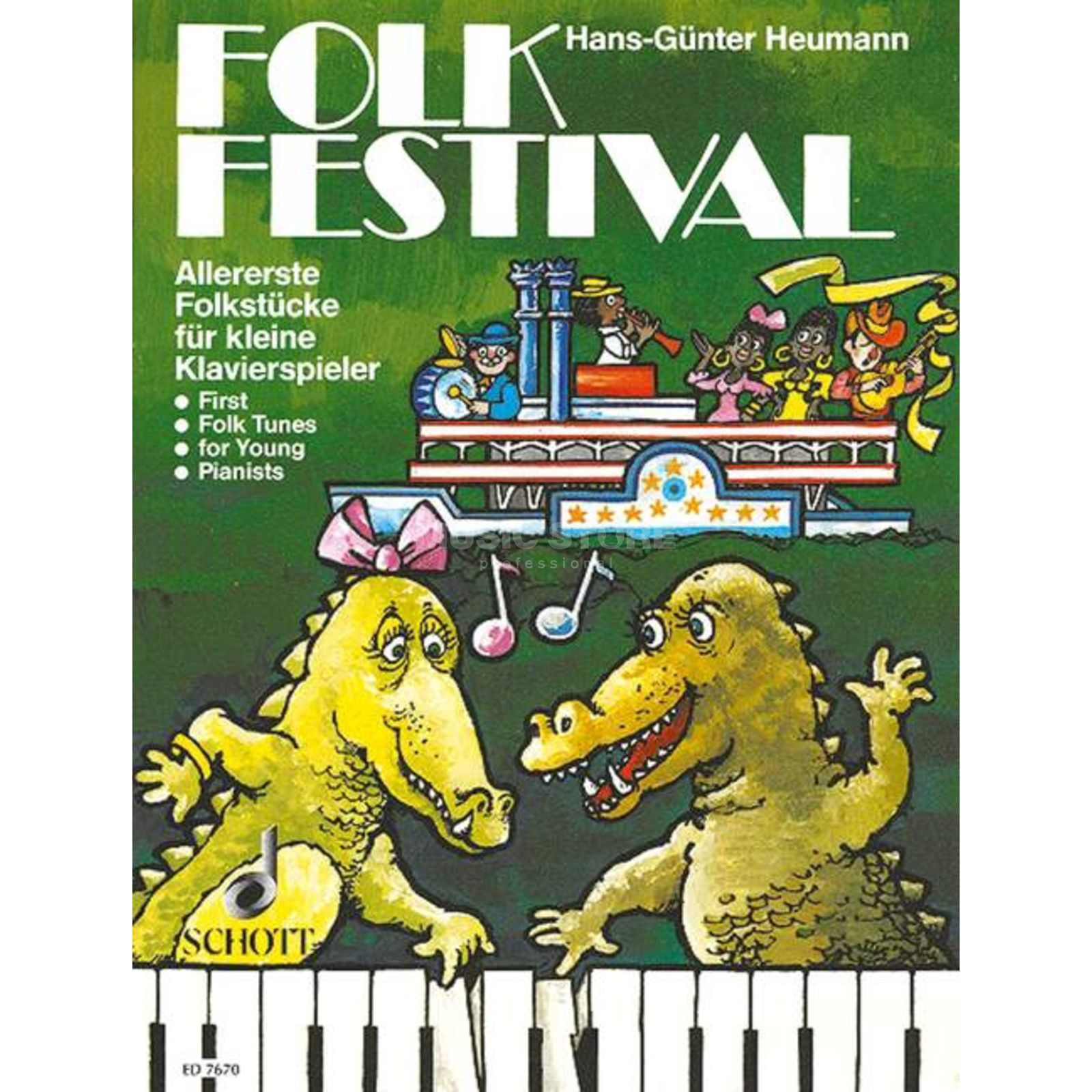 Schott Music Folk Festival Heumann, Easy Piano Music Product Image