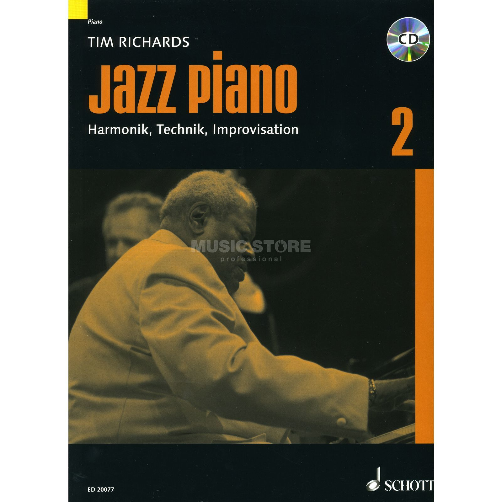 Schott Music Jazz Piano 2 Tim Richards, Lehrbuch mit CD Image du produit
