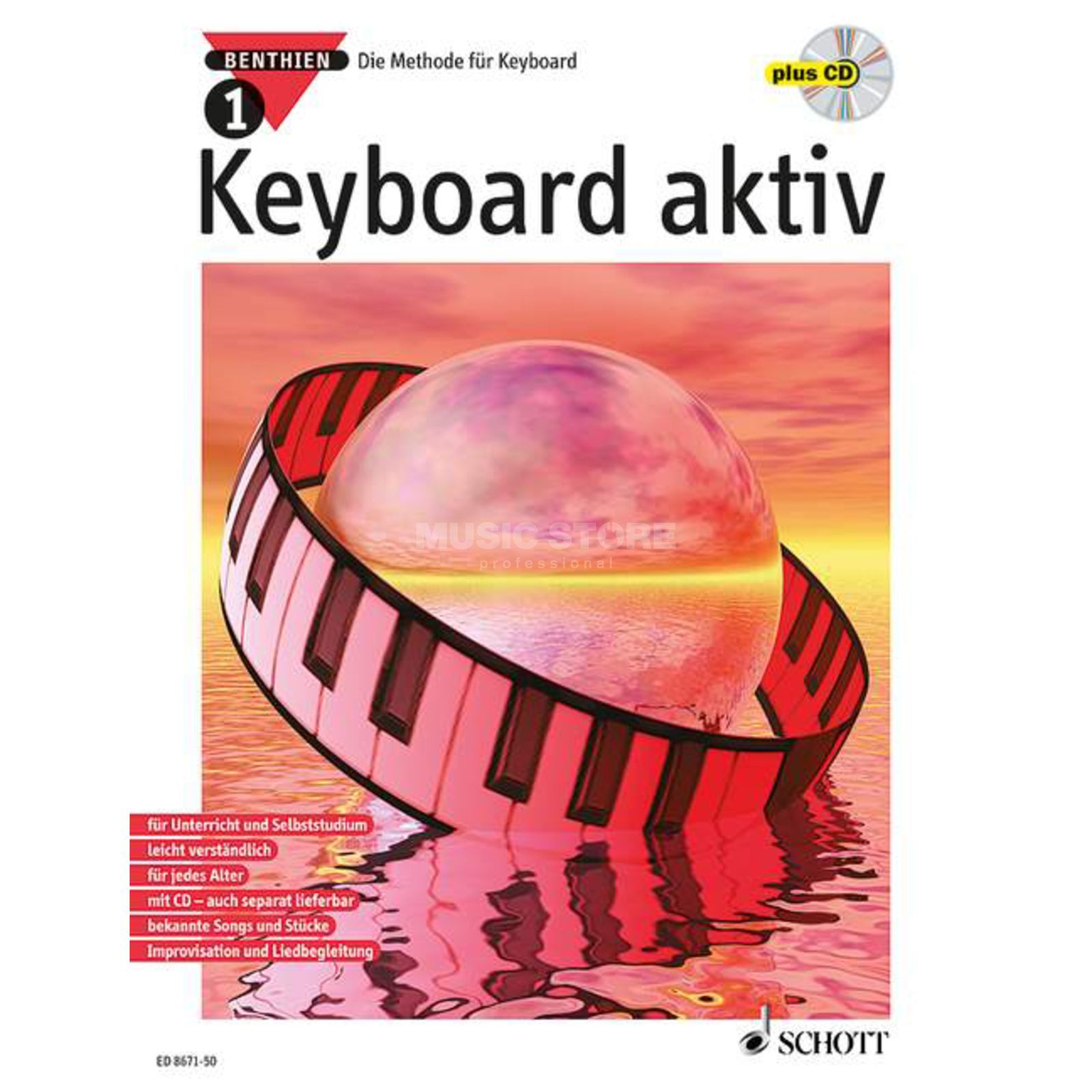 Schott Music Keyboard aktiv Band 1 Axel Benthienm, inkl. CD Produktbild