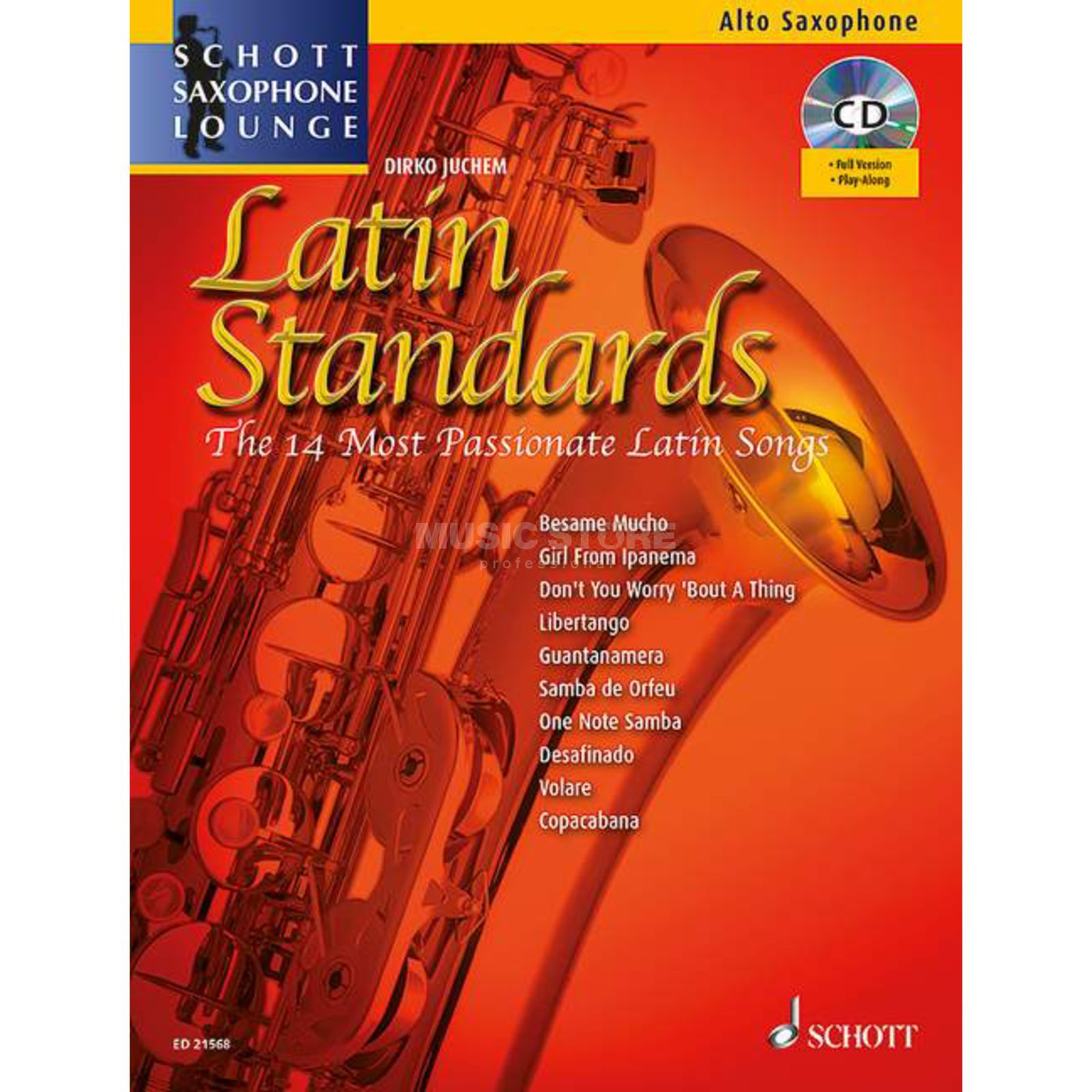 Schott Music Latin Standards - Alt-Sax Juchem, Buch/CD Product Image