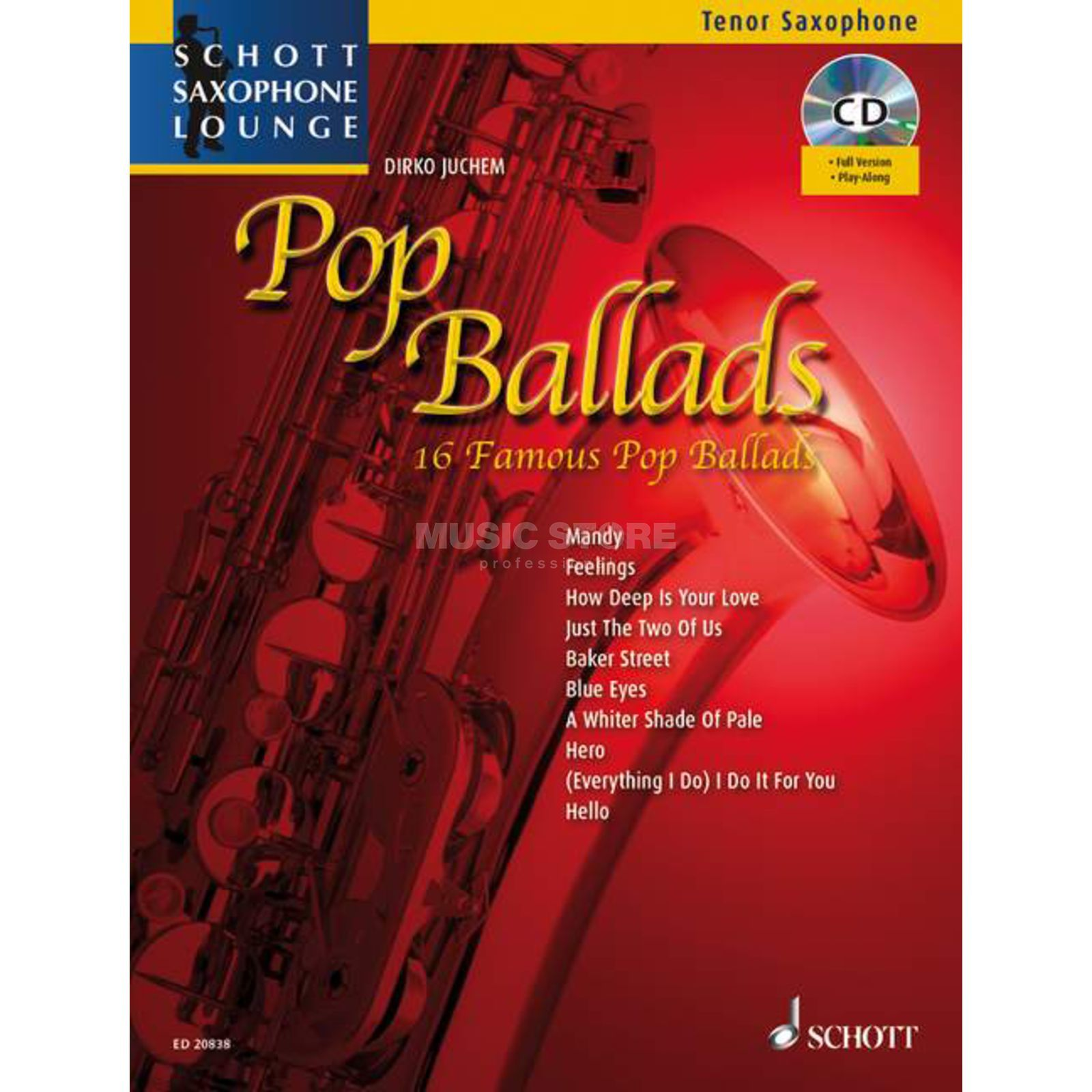 Schott Music Pop Ballads - Tenor-Sax Juchem, Buch/CD Product Image