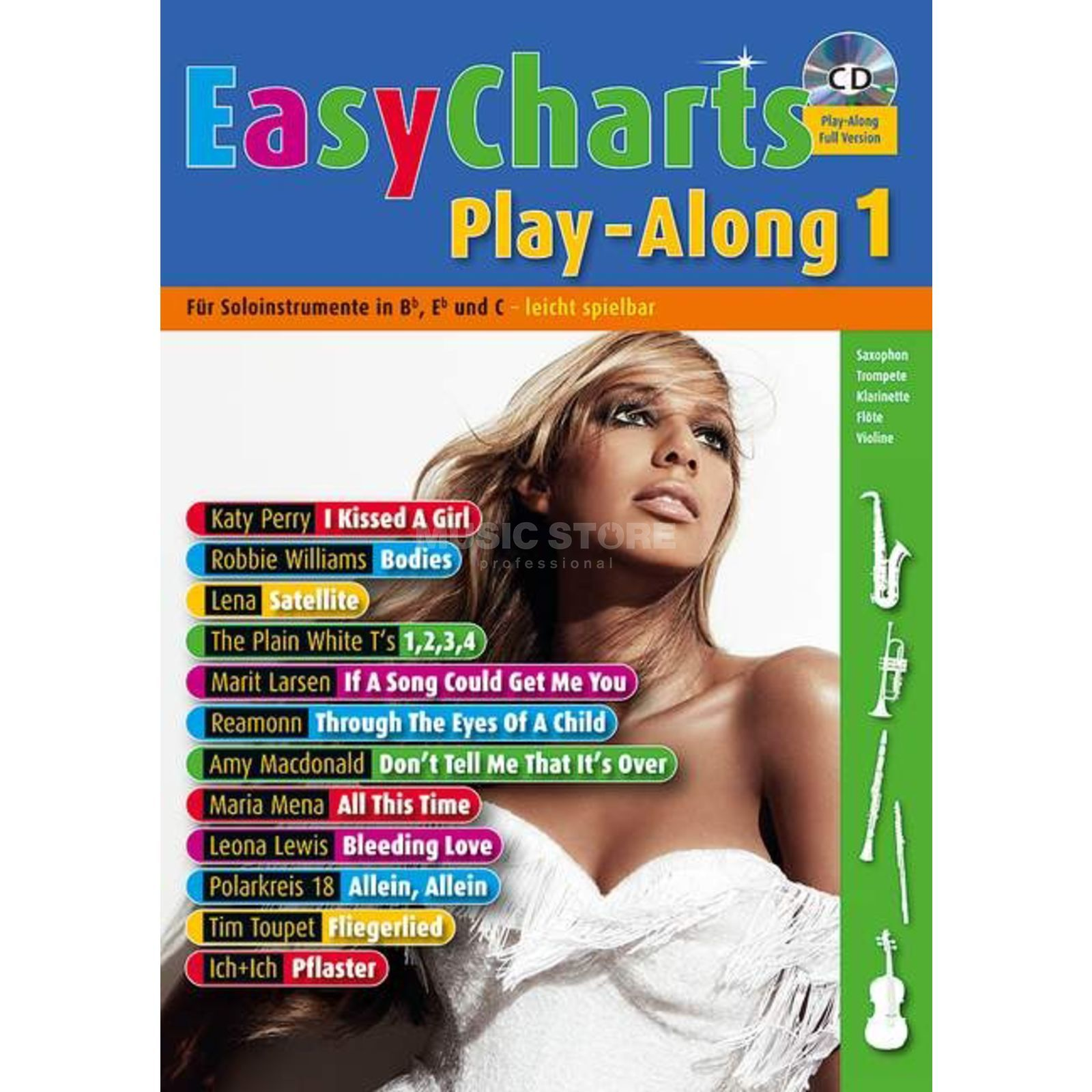 Schott-Verlag Easy Charts 1 Play-along U.Bye, C/Eb/Bb-Instrument, CD Produktbild