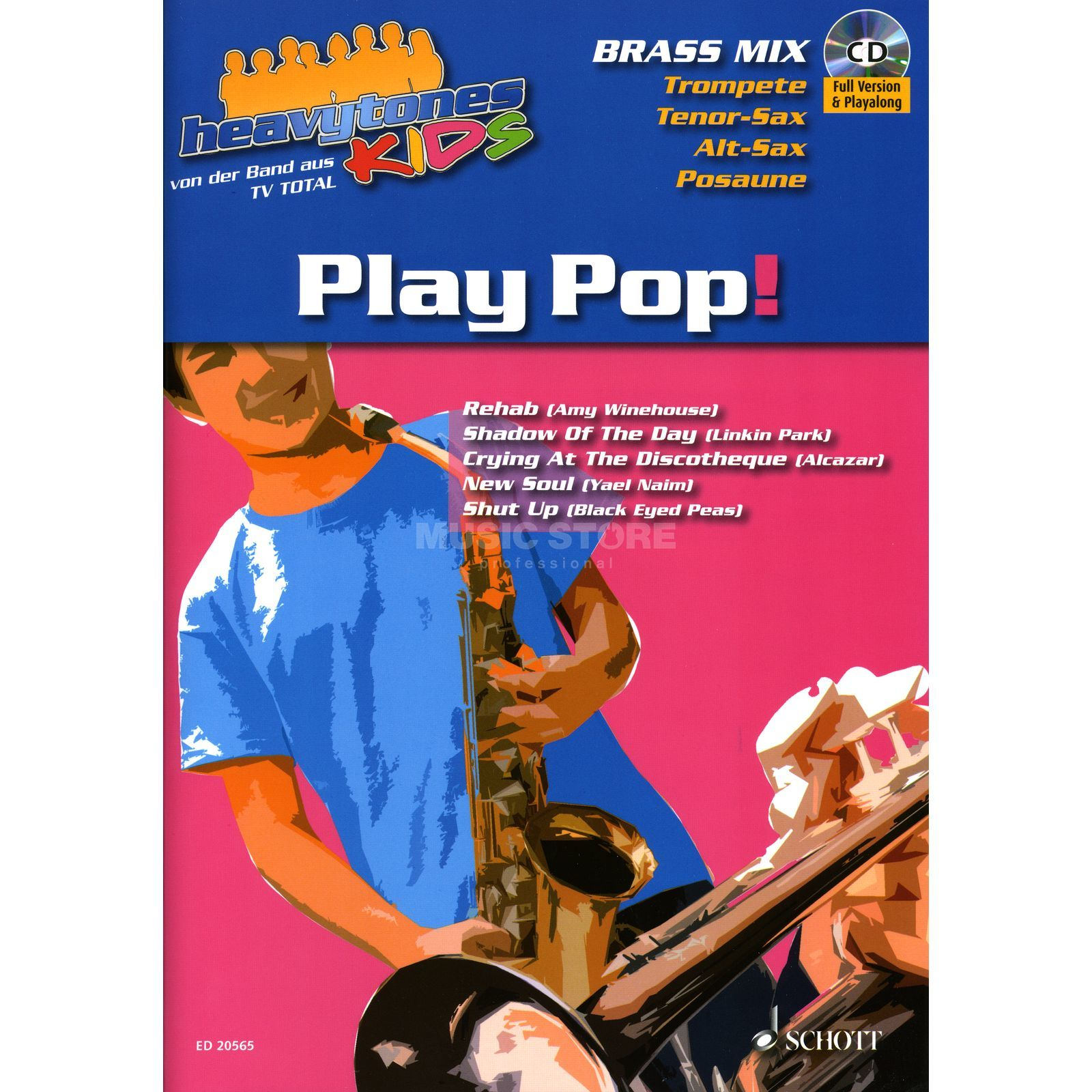 Schott-Verlag Heavytones Kids - Brass Mix Play Along Sax, Posaune, Tromp Produktbild
