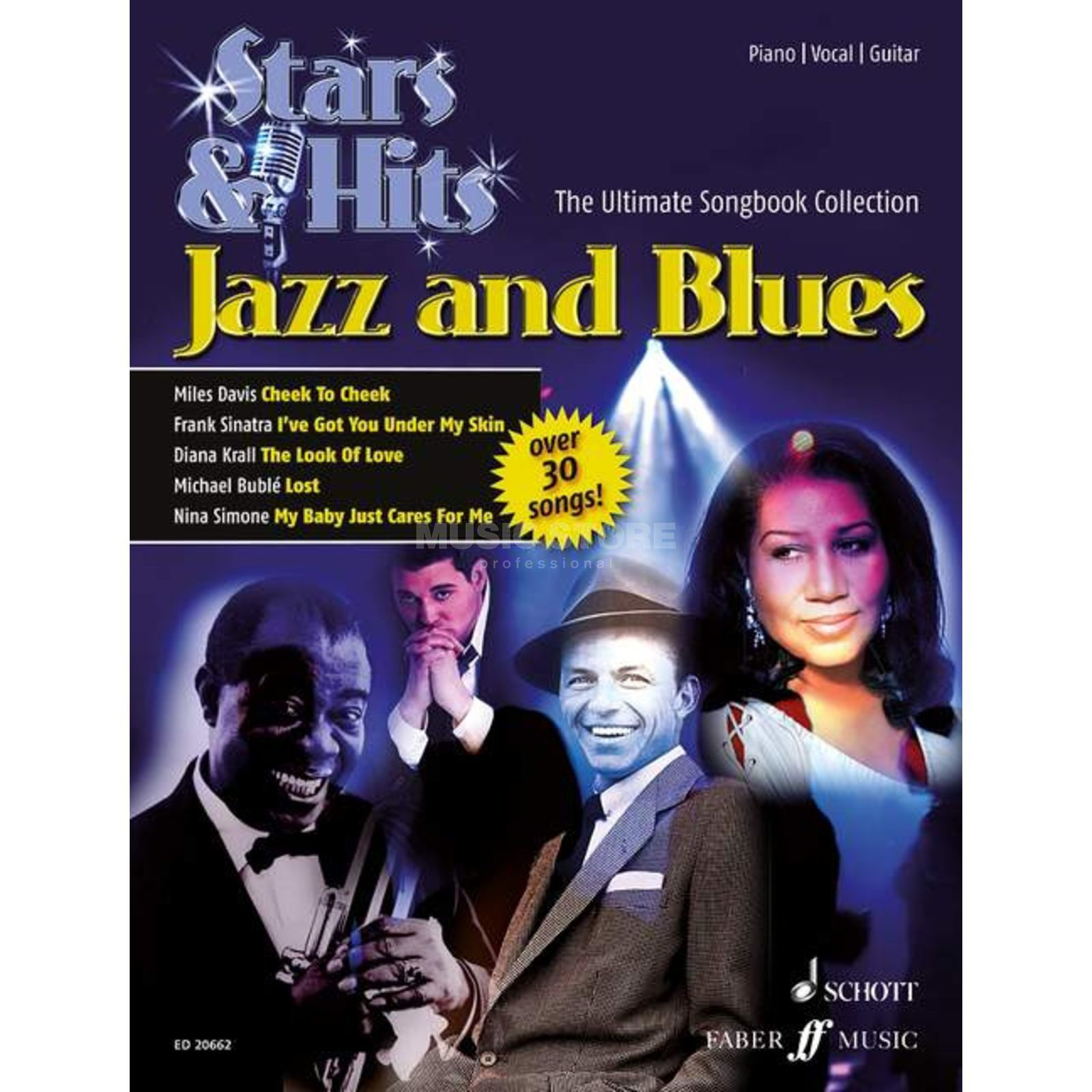 Schott-Verlag Stars & Hits - Jazz and Blues PVG Produktbild
