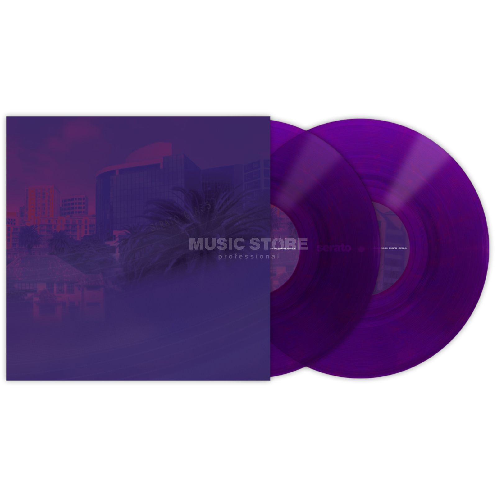 "Serato 10"" Control Vinyls Purple Glass (pair) Product Image"