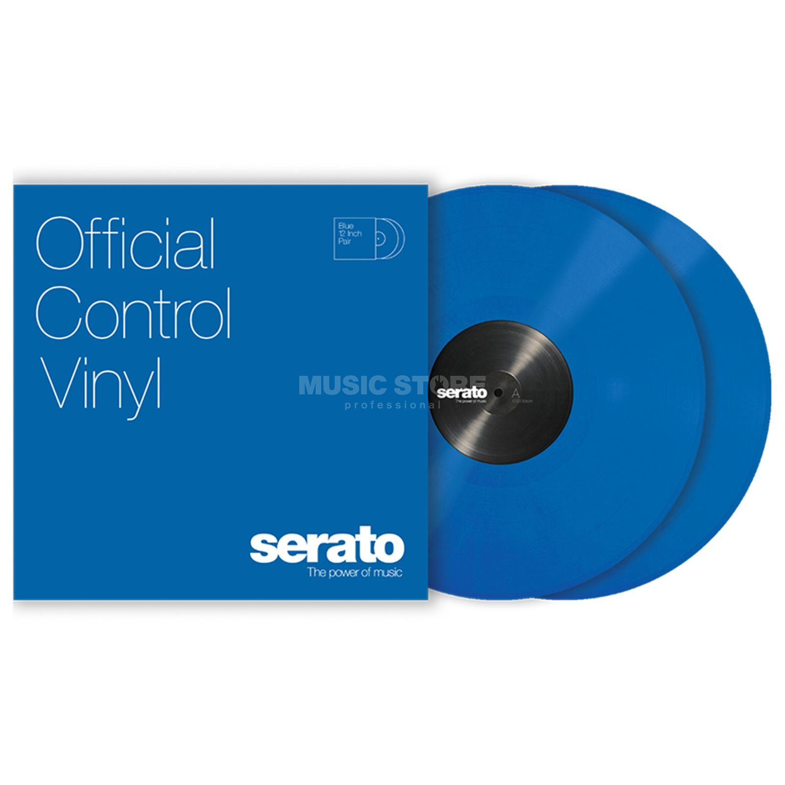 "Serato 12"" Standard Colours Control Vinyl x2 (Blue) Product Image"
