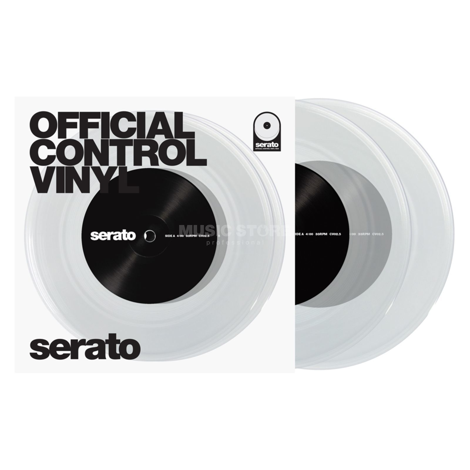"Serato 7"" Performance Series Control Vinyl x2 (Clear) Product Image"