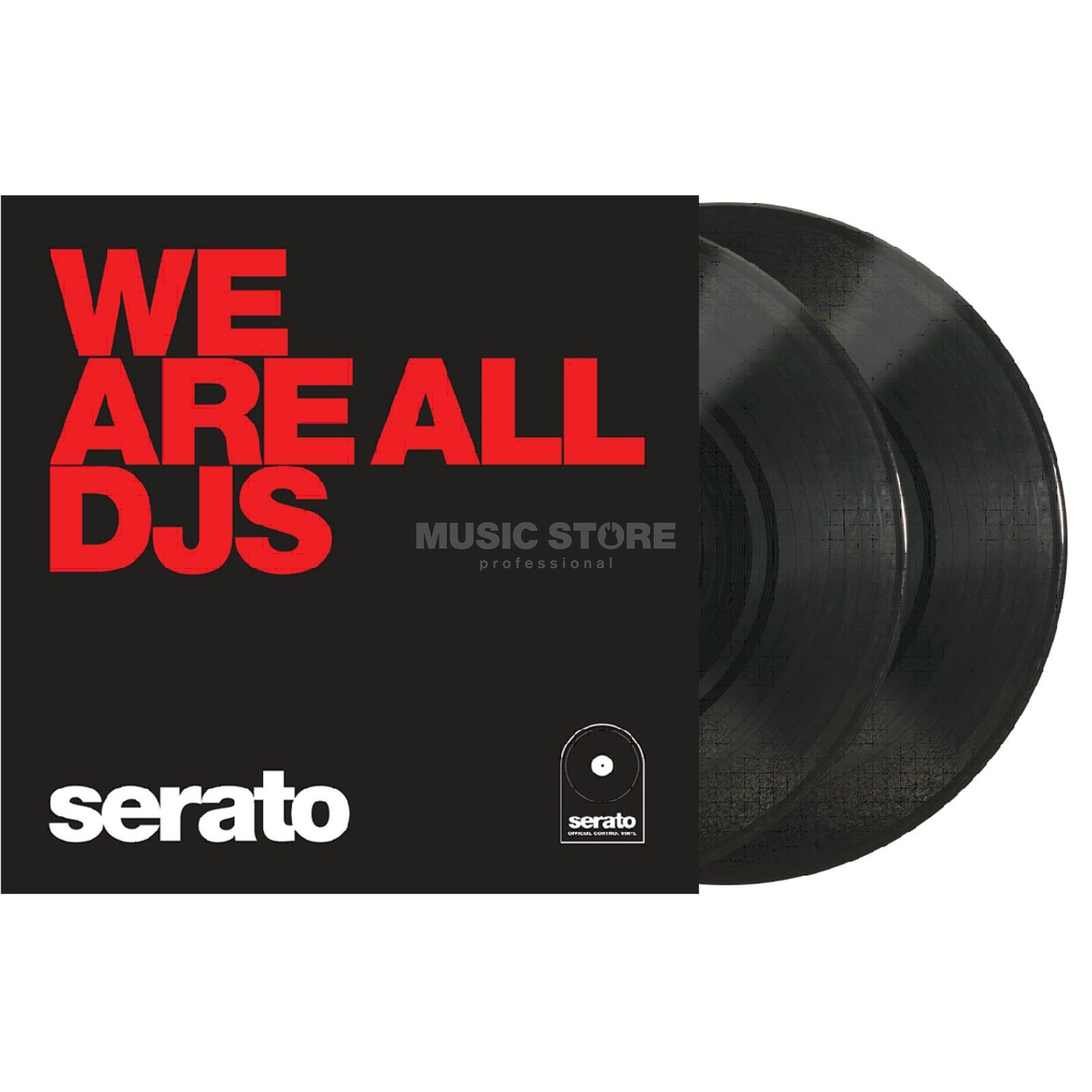"Serato Manifesto 10"" Control Vinyls schwarz, We are all DJs Produktbild"