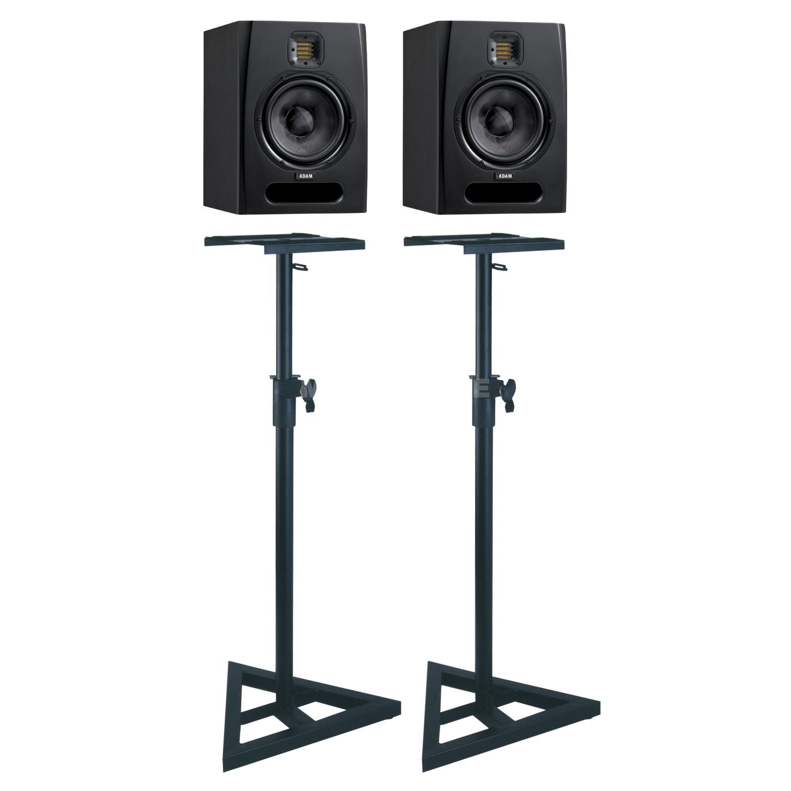 SET ADAM F7 + XLR Kabel + Fame Stands Bundle Produktbild