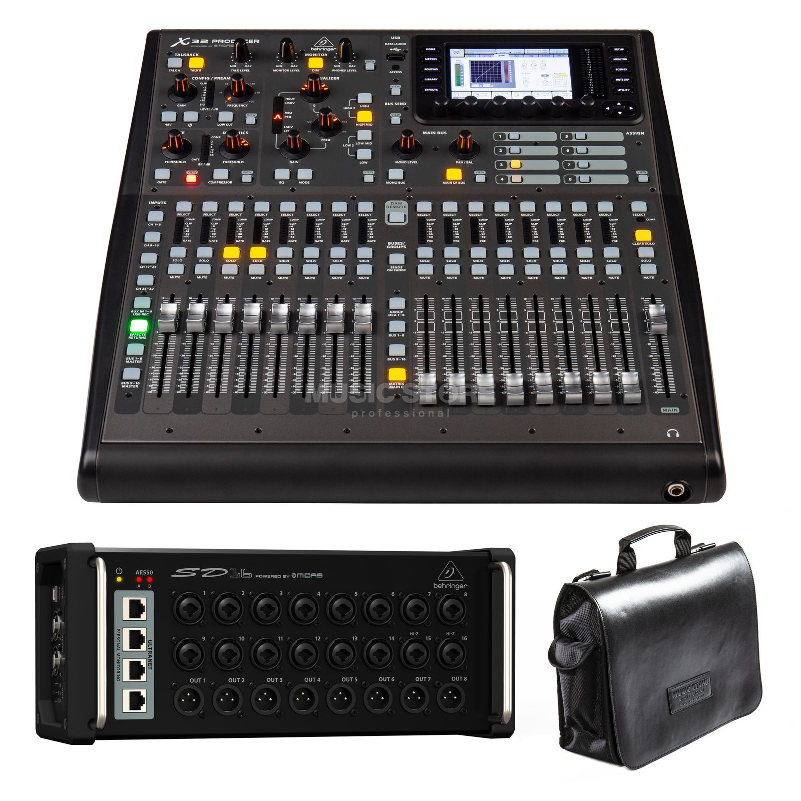 SET Behringer X32 Producer + SD16  Produktbillede