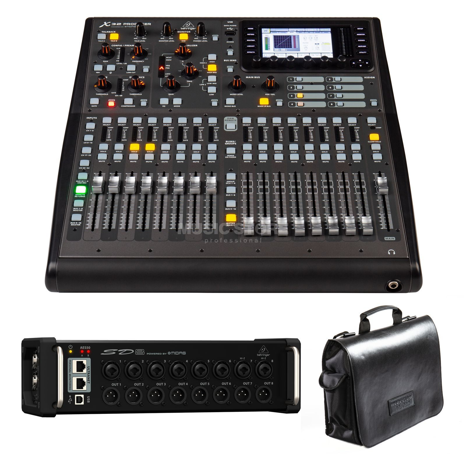 SET Behringer X32 Producer + SD8  Produktbild