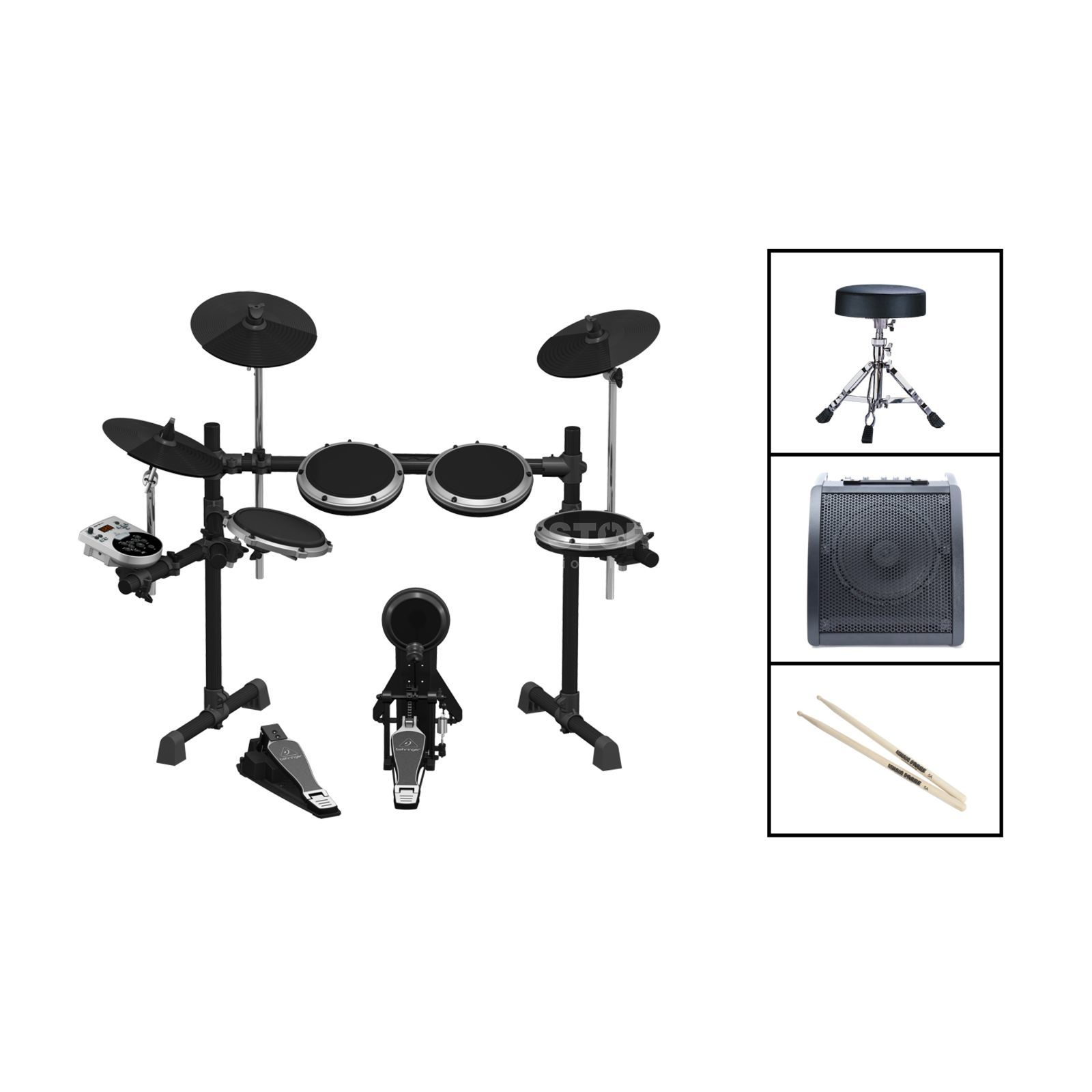 SET BEHRINGER XD8USB Bundle II, inkl. Monitor, Hocker & Stix Produktbild