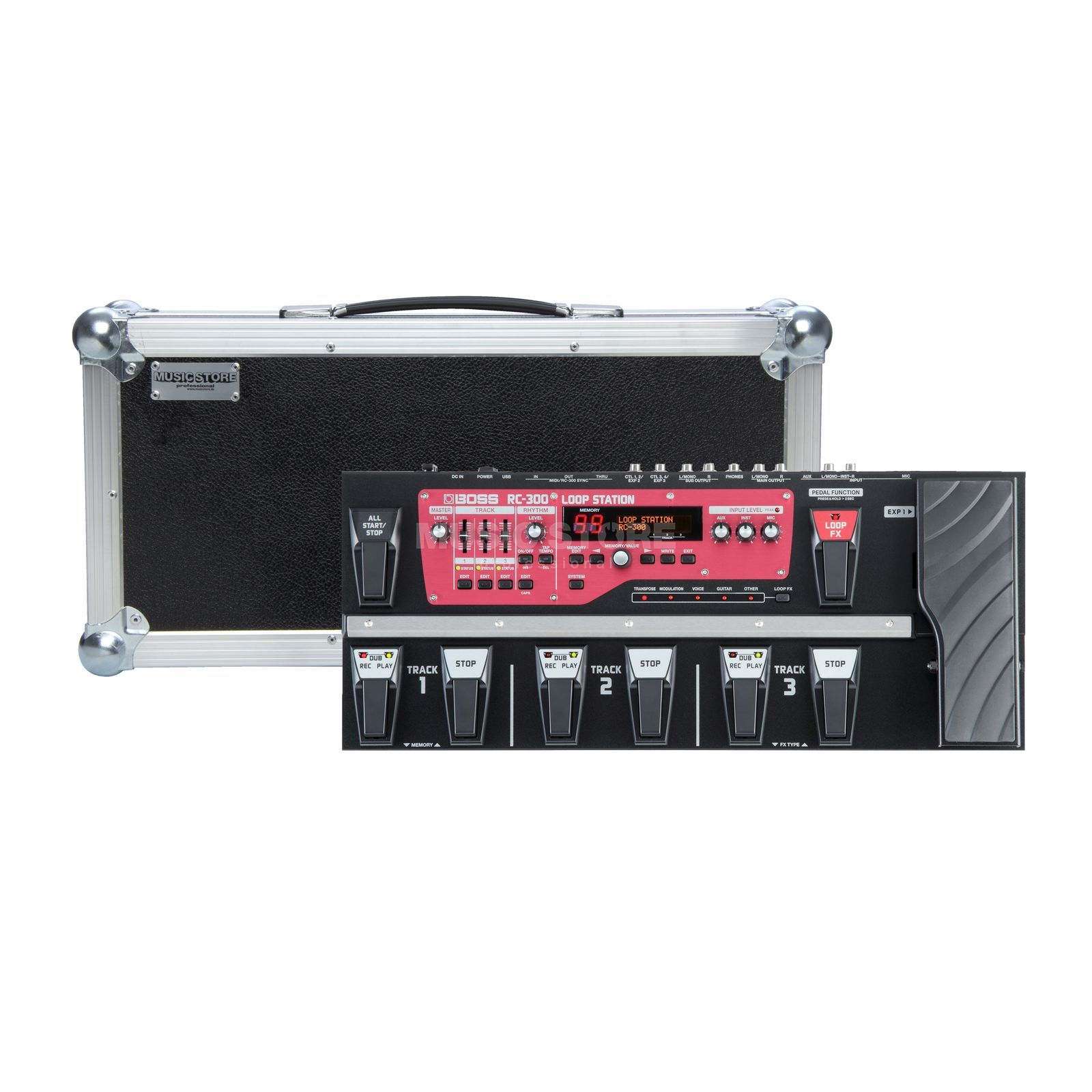 SET BOSS RC-300 + Flightcase  Produktbillede