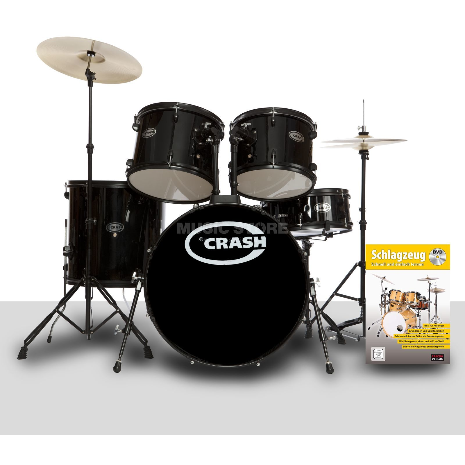 SET Crash Force Five, schwarz, inkl. Notenschule Produktbillede