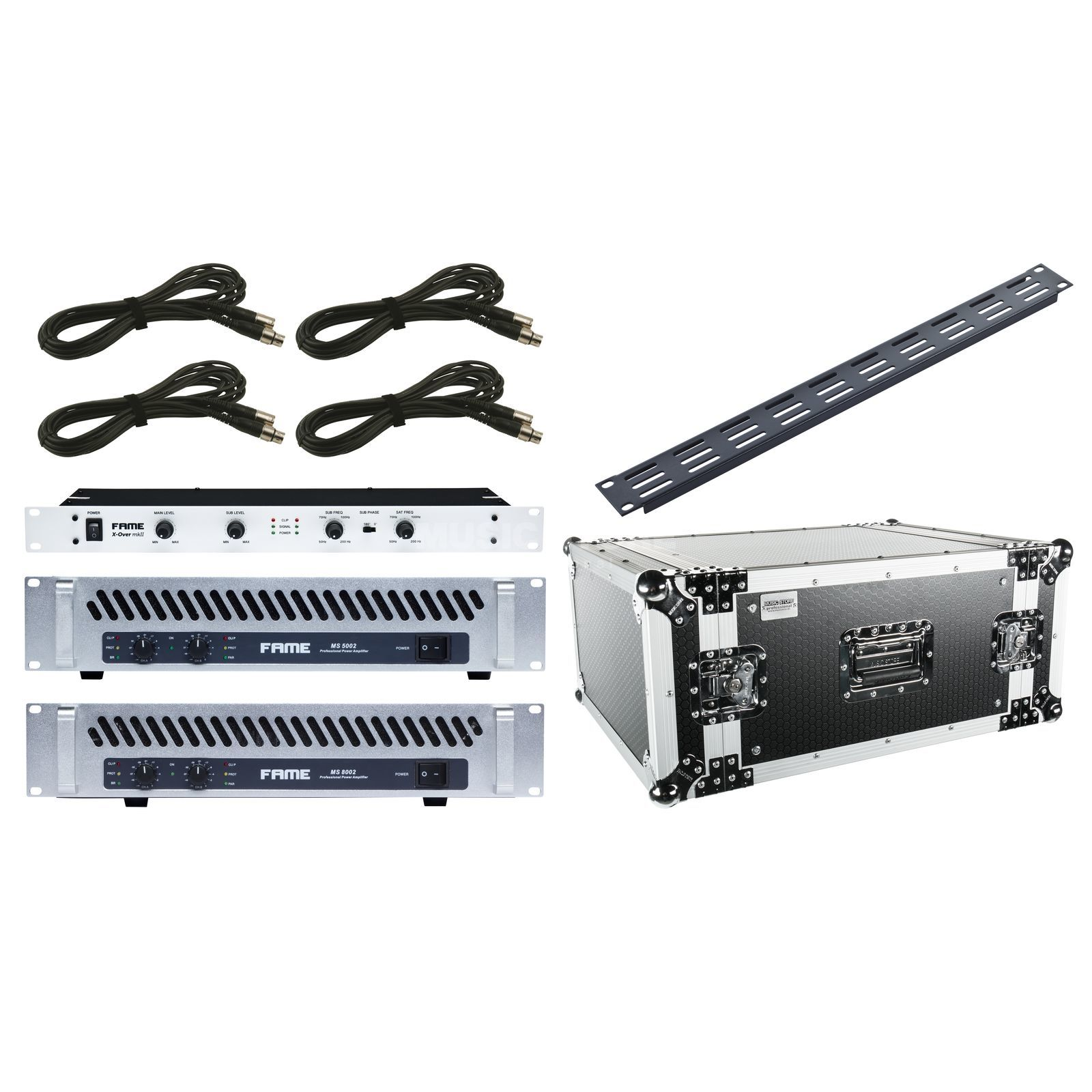 SET Fame Amp Rack I Endstufen, X-Over, Case, Kabel Produktbillede