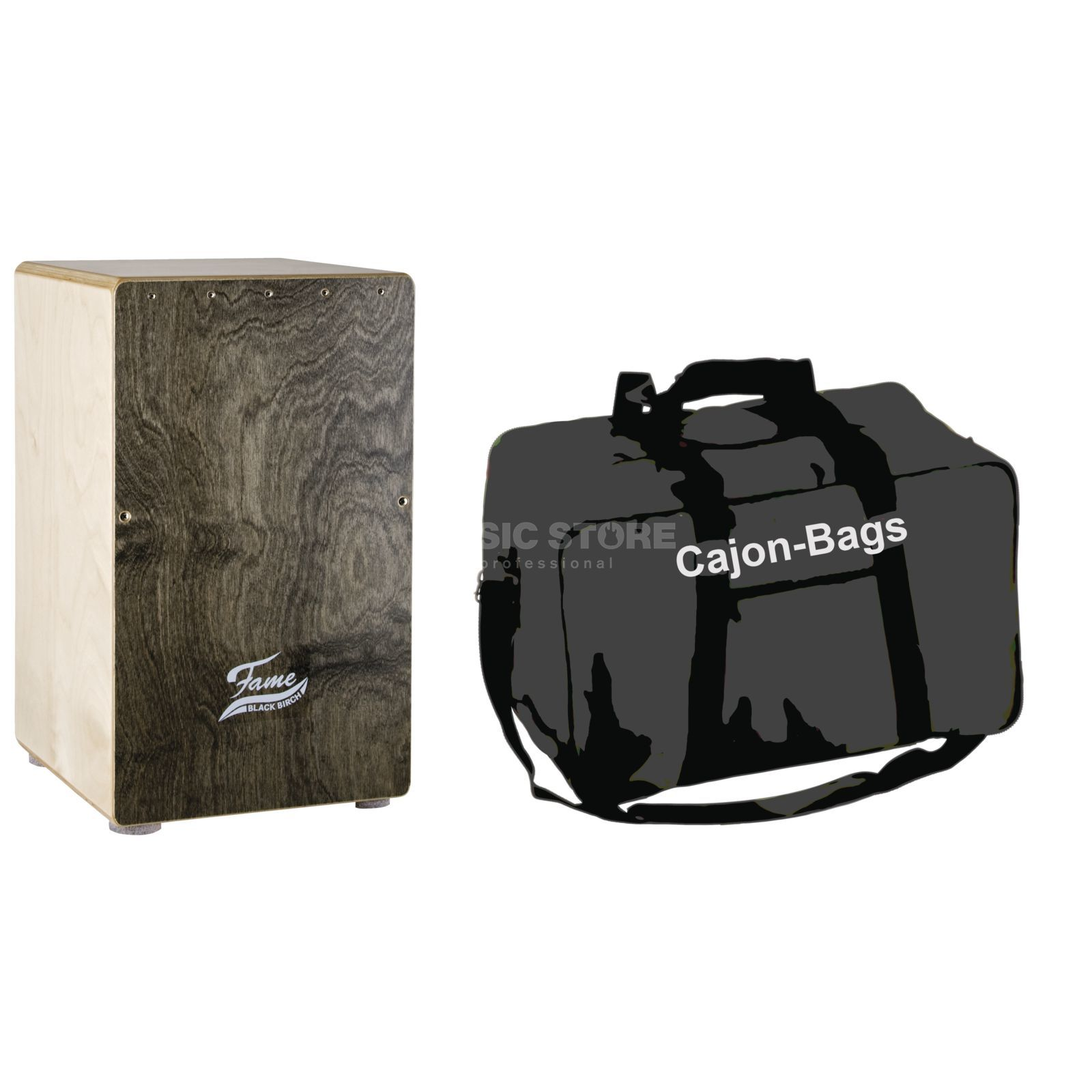 SET FAME Black Birch Cajon + Bag Produktbild