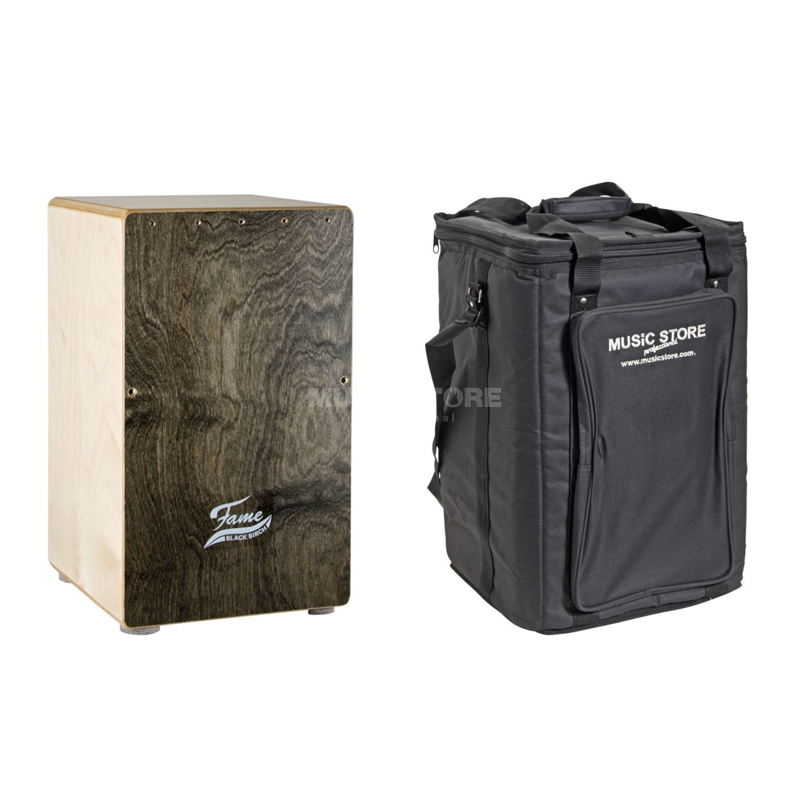 SET FAME Black Birch Cajon inkl. Rucksack Bag Produktbild