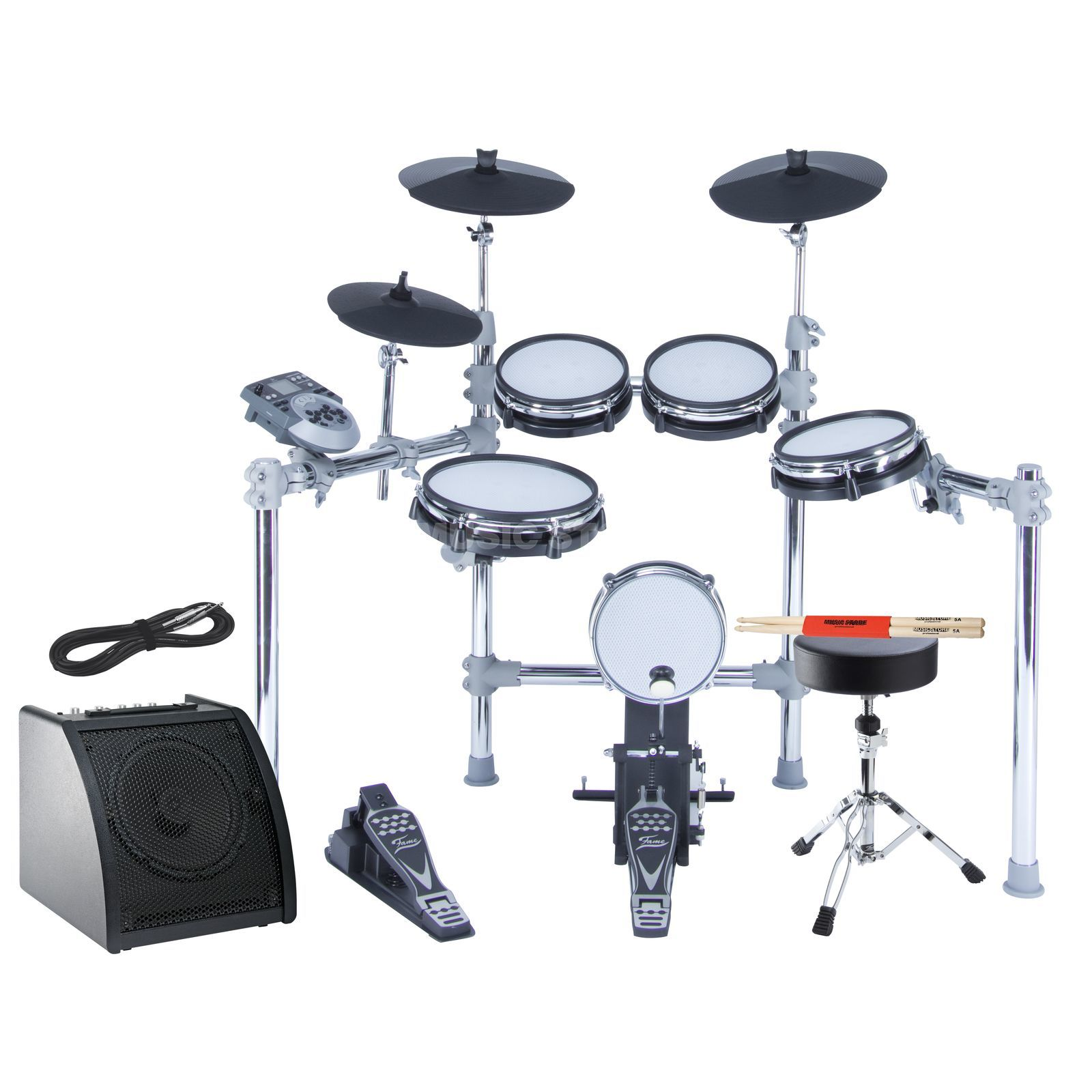 SET FAME DD-6500 E-Drum Bundle, inkl. Hocker, Monitor & Sticks Produktbild