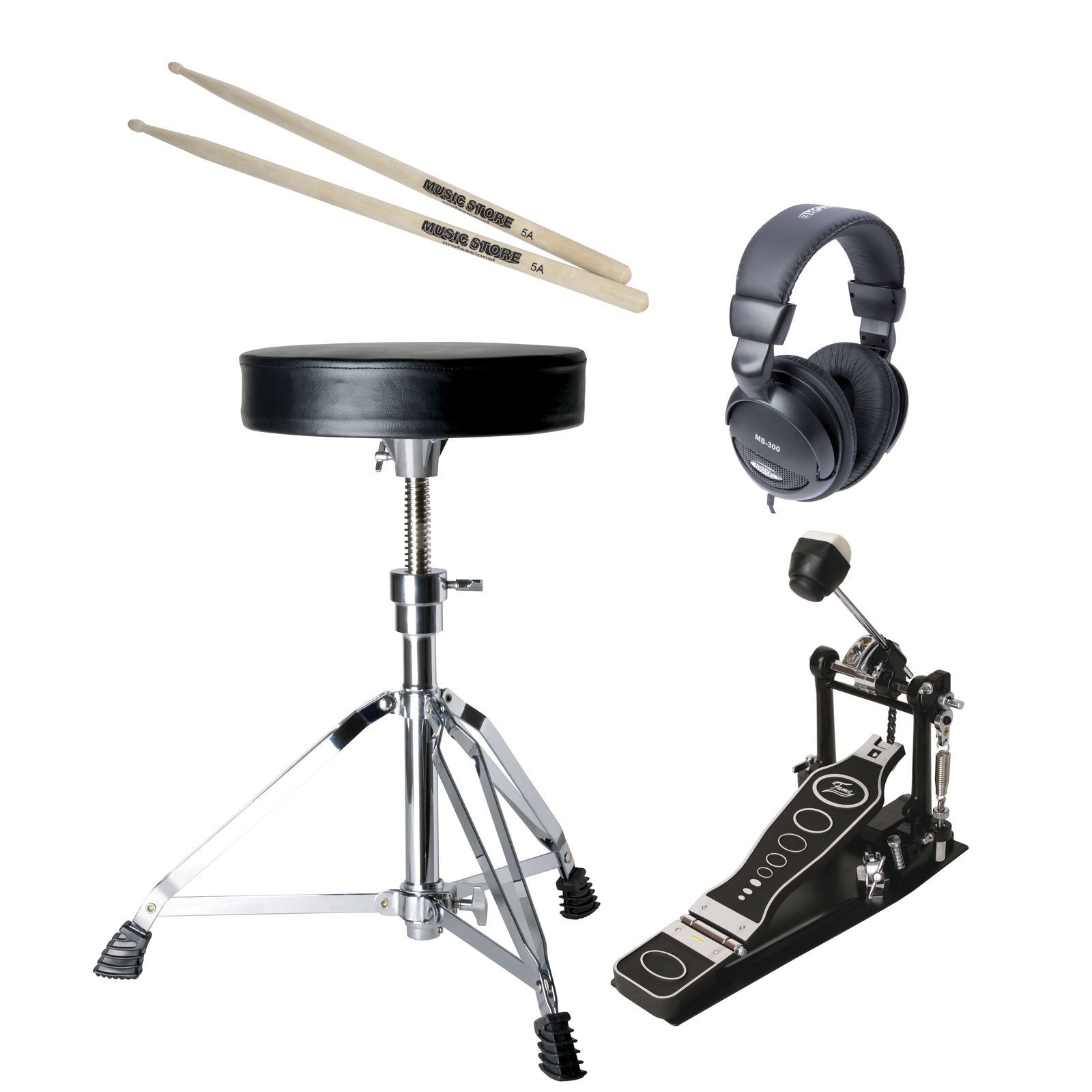 SET FAME E-Drum Add On Pack, Hocker,Pedal,Kopfhörer,Sticks Produktbild