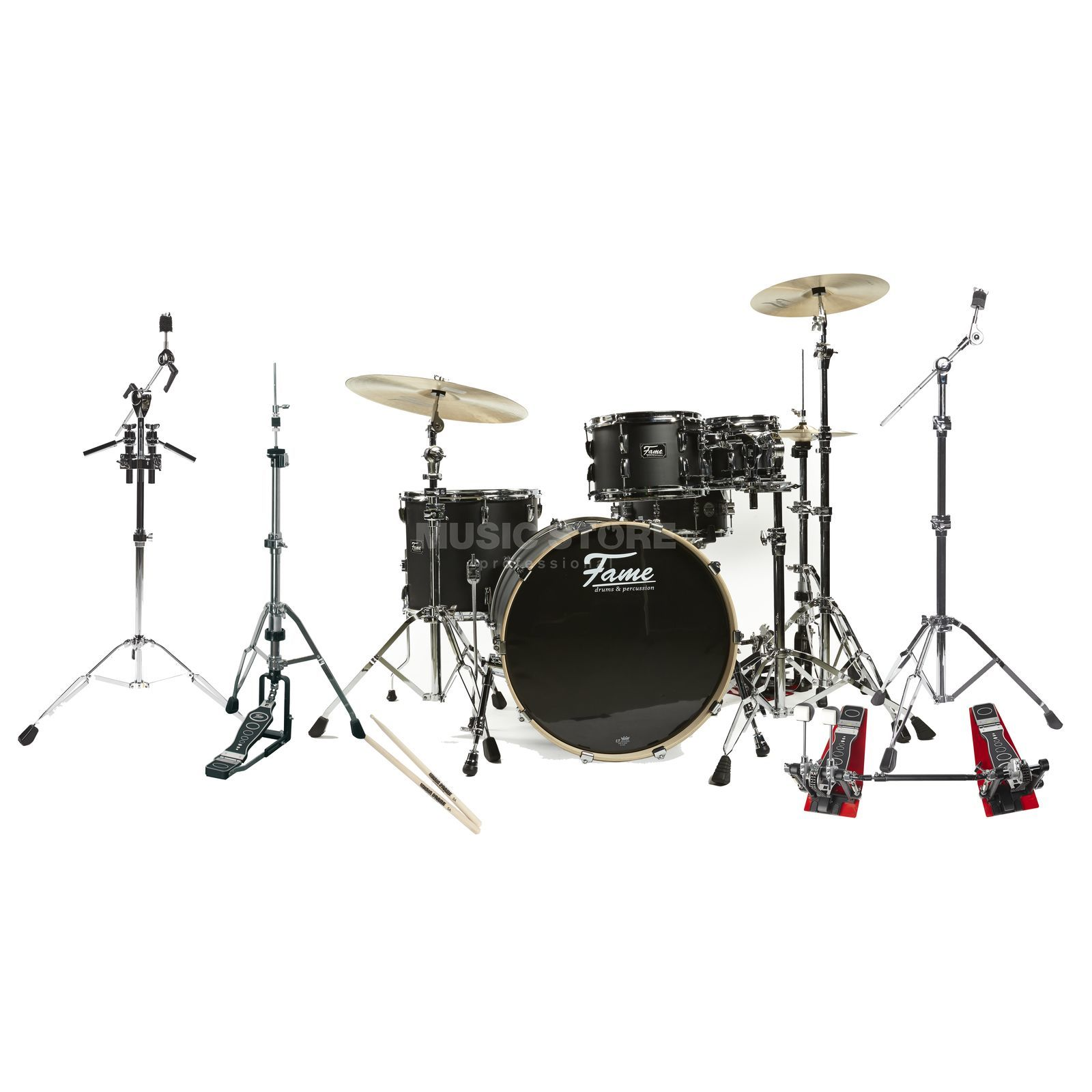SET Fame Fire Stage DrumSet 4220, #Matte Black incl. Hardware 2 Produktbild