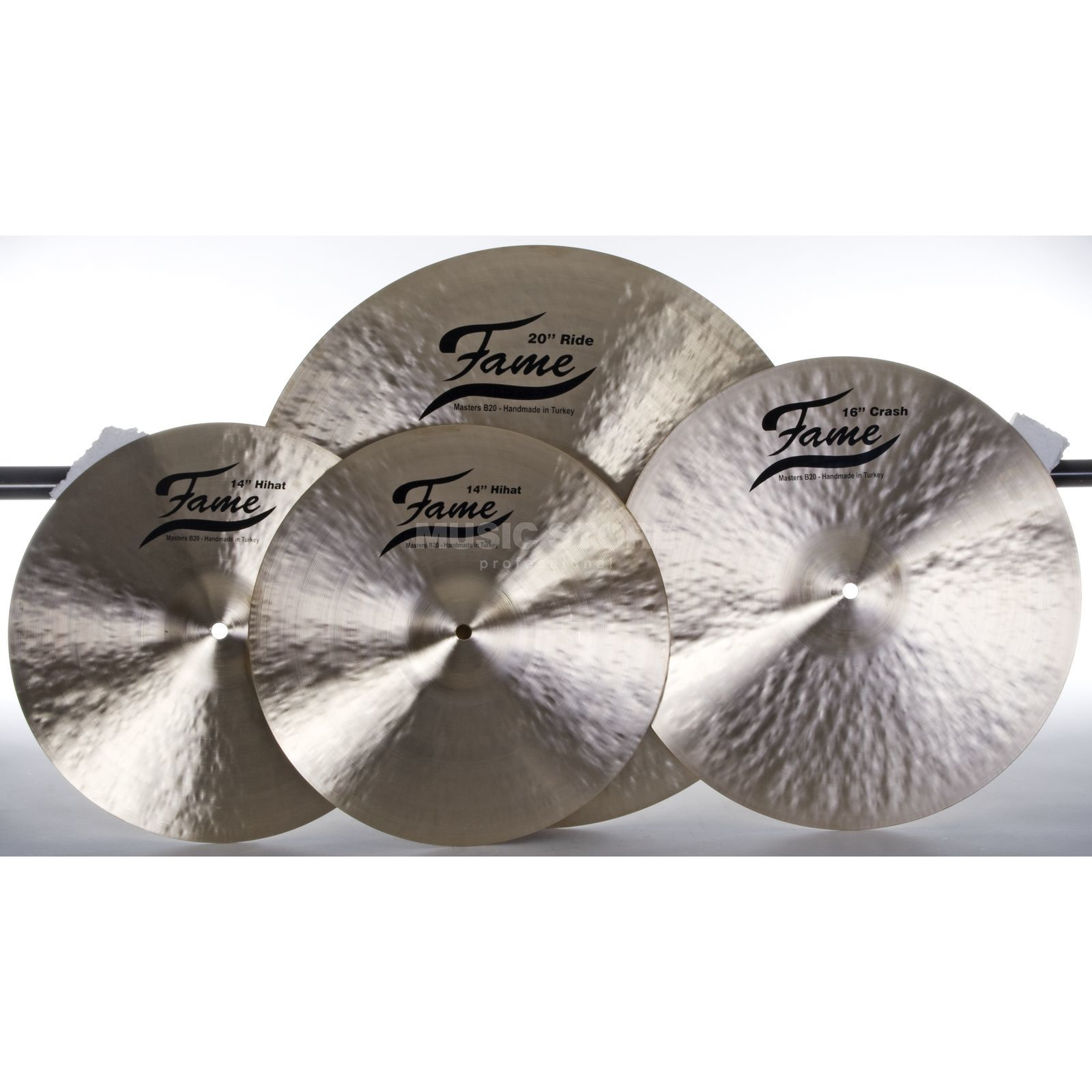 "SET FAME Masters B20 CymbalSet II Thin; 14""HH, 16""CR, 20""R Produktbillede"