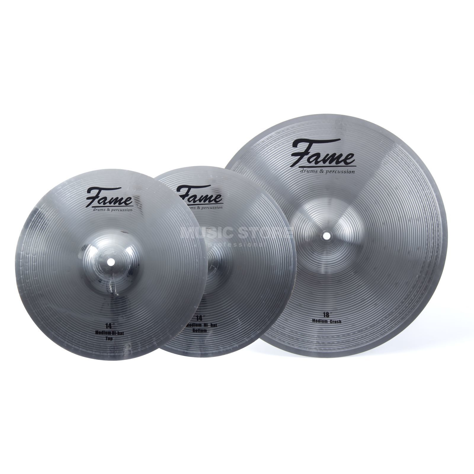 "SET FAME Reflex Cymbal Set IV 18"" Crash-Ride, 14"" HiHat Produktbild"
