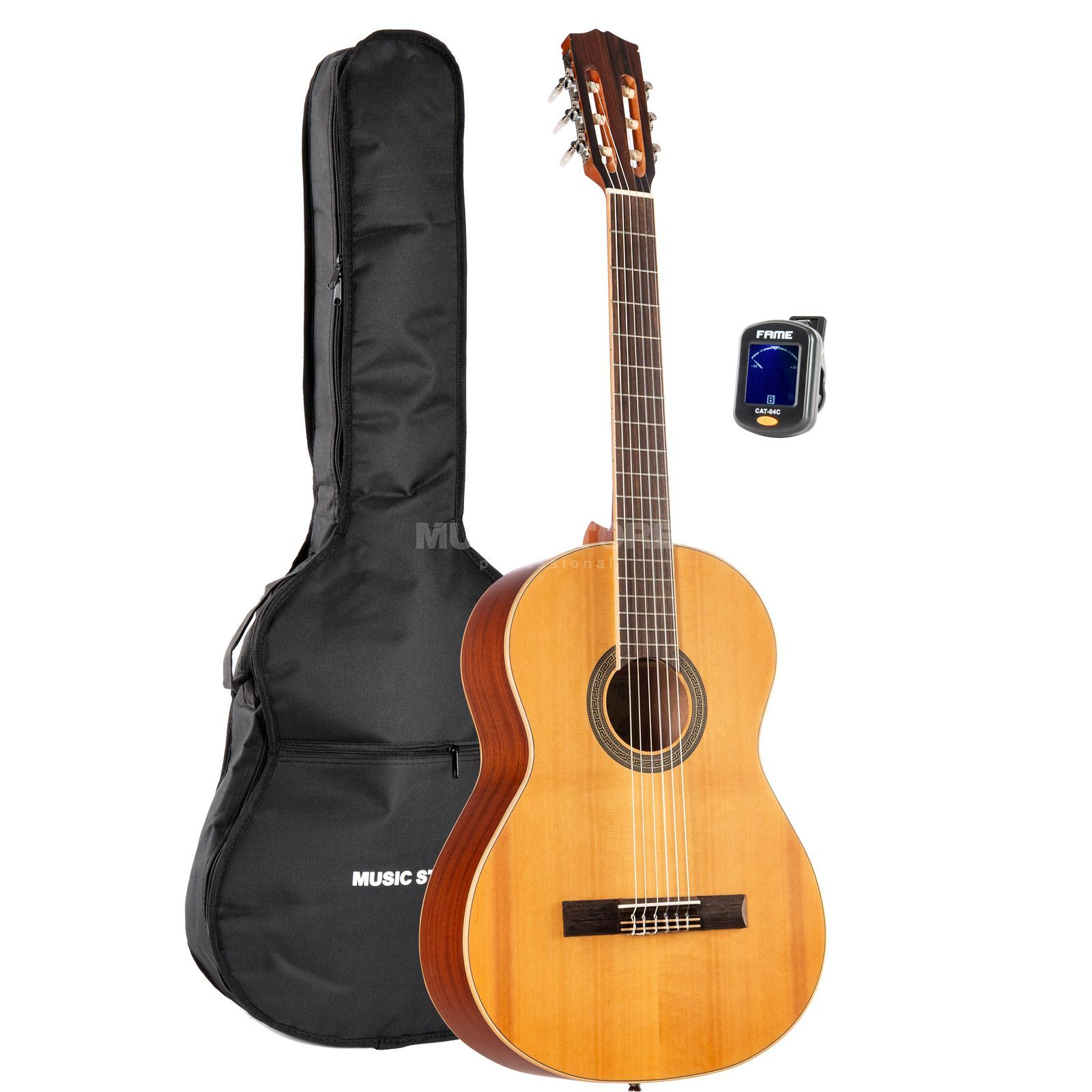 SET Fender CD 60 Black + Bag + Tuner + Stand Produktbillede