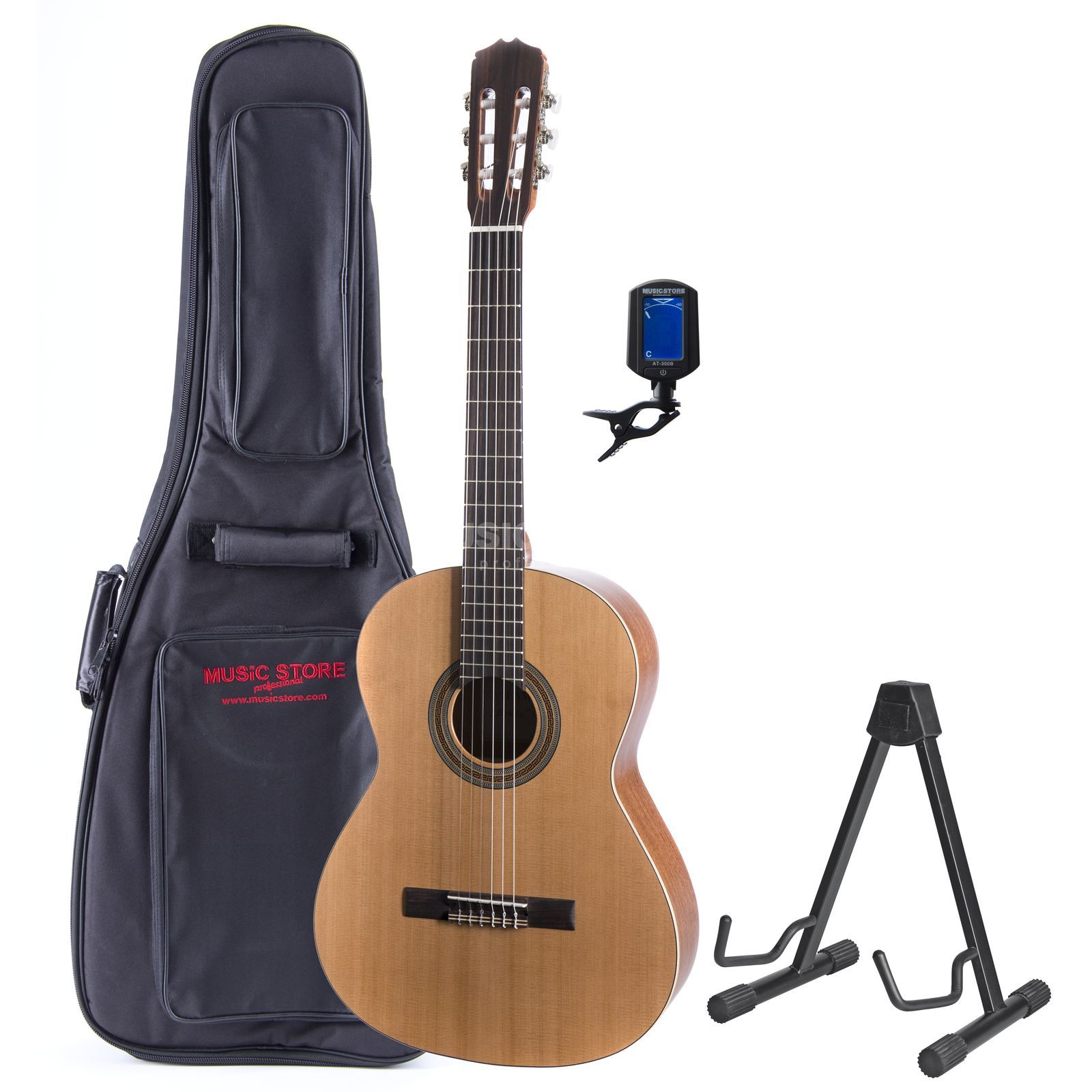 SET Fender CD-60 BLK + Bag + Tuner + Stand + Book Produktbild