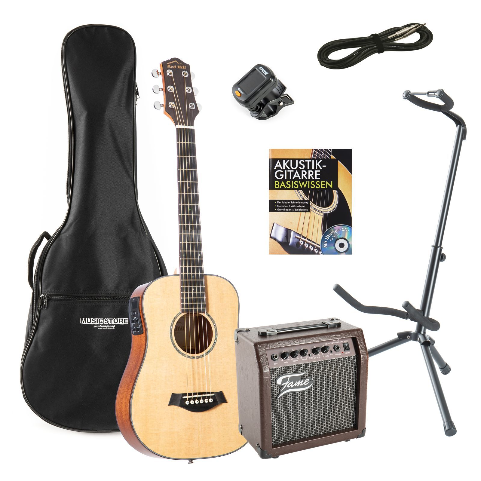 SET Fender ESC 105 incl. Bag + Tuner + Book + Stand Produktbild