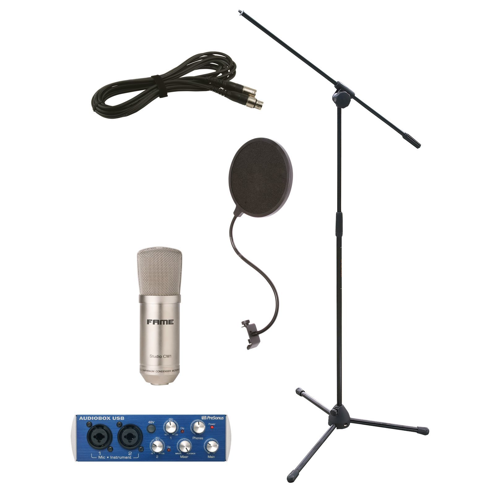 SET Homerecording Bundle 1 Mic + Interface + Zubehör Produktbild